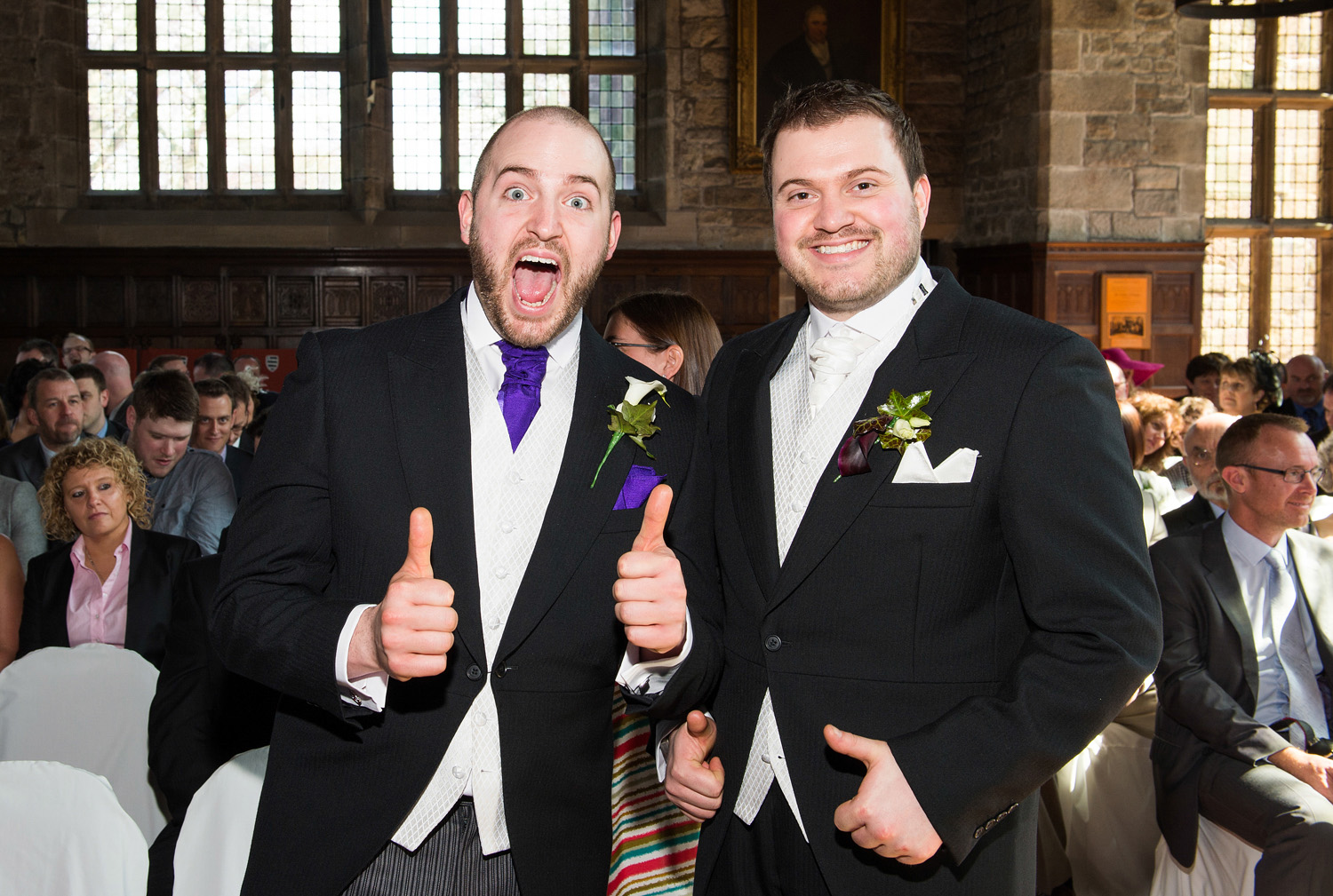 A Hoghton Tower wedding photograph
