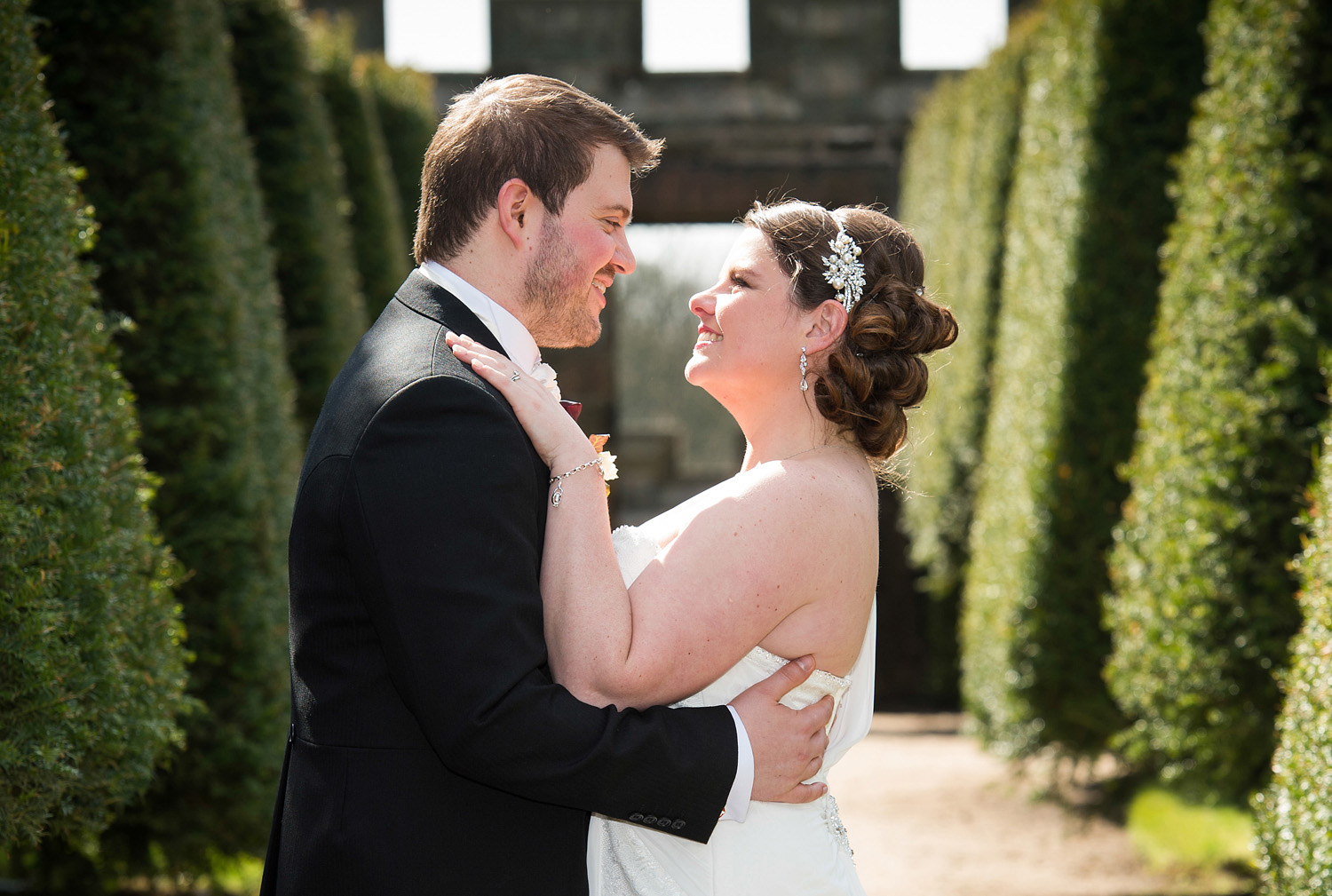 Wedding photographs at Hoghton Tower near Preston in Lancashire