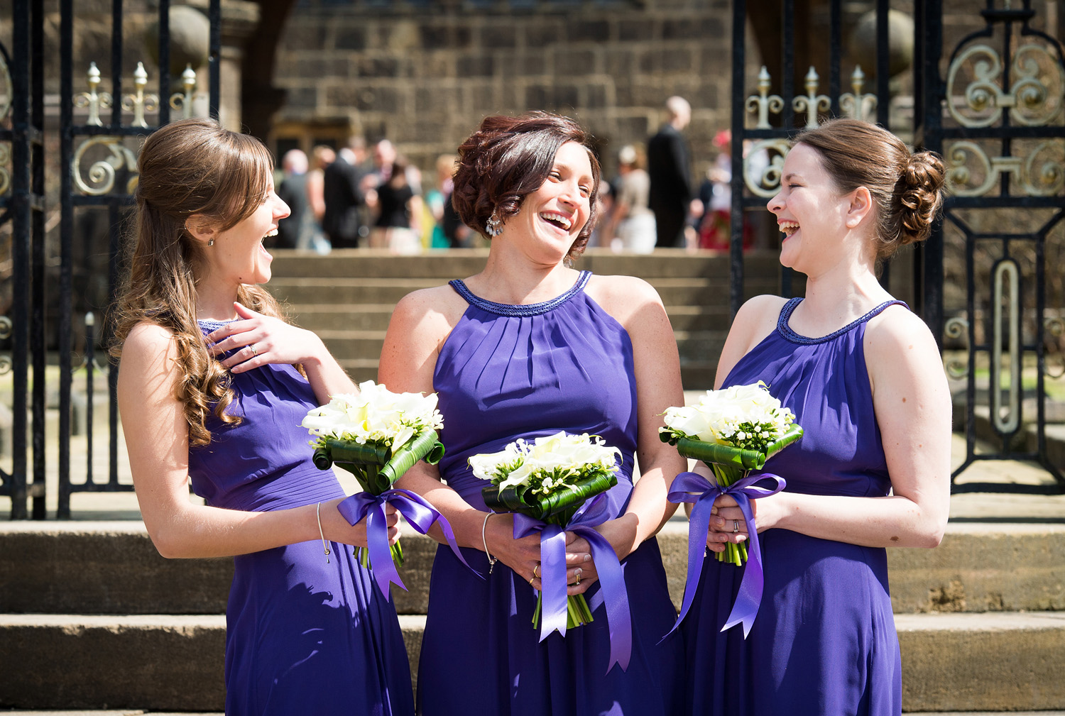 Natural wedding photographs at Hoghton Tower
