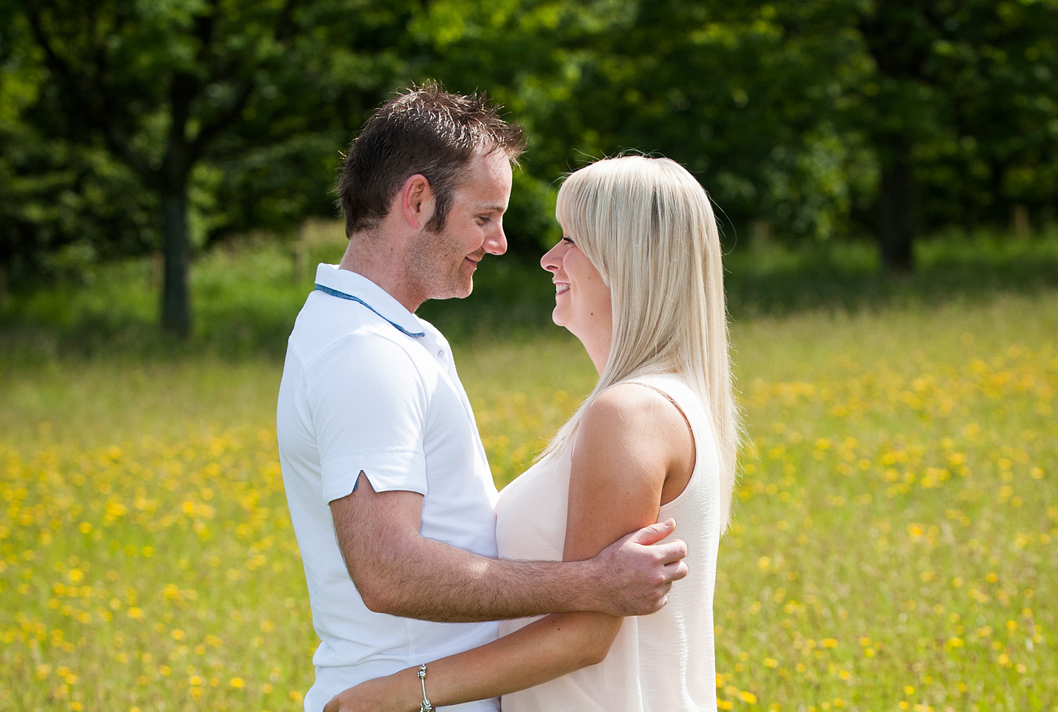 Buttercup meadow engagement photography