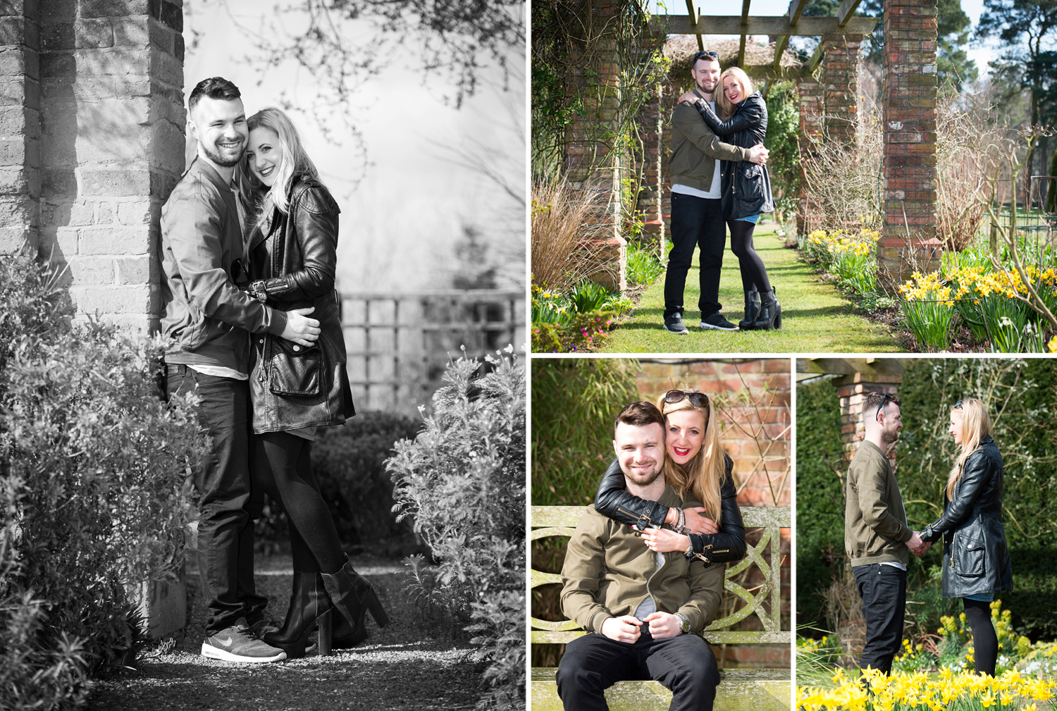 The Abbey wood Estate gardens provide a fantastic backdrop for engagement and wedding photography.