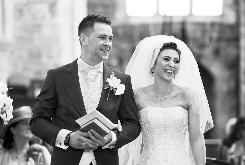 A wedding at St. Helens Church,Waddington in Lancashire