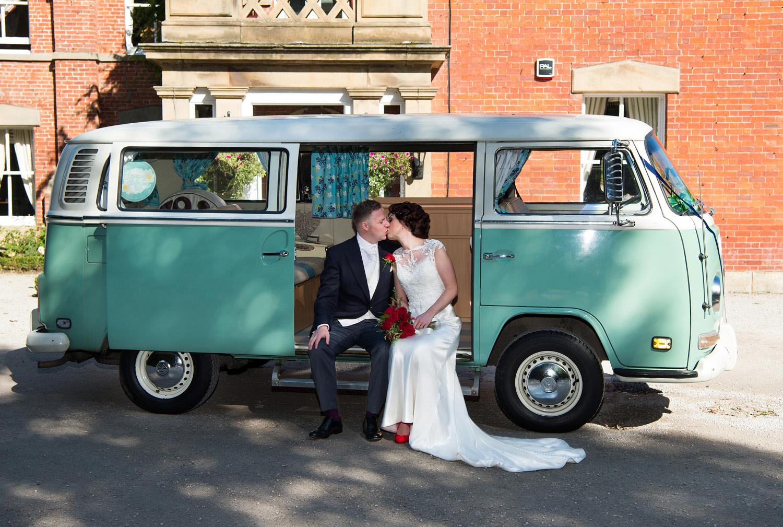 Vintage VW Camper Van outside Bartle Hall