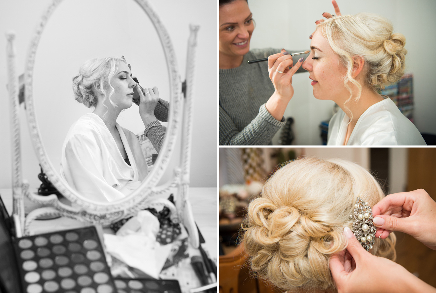 Bride getting ready photographs