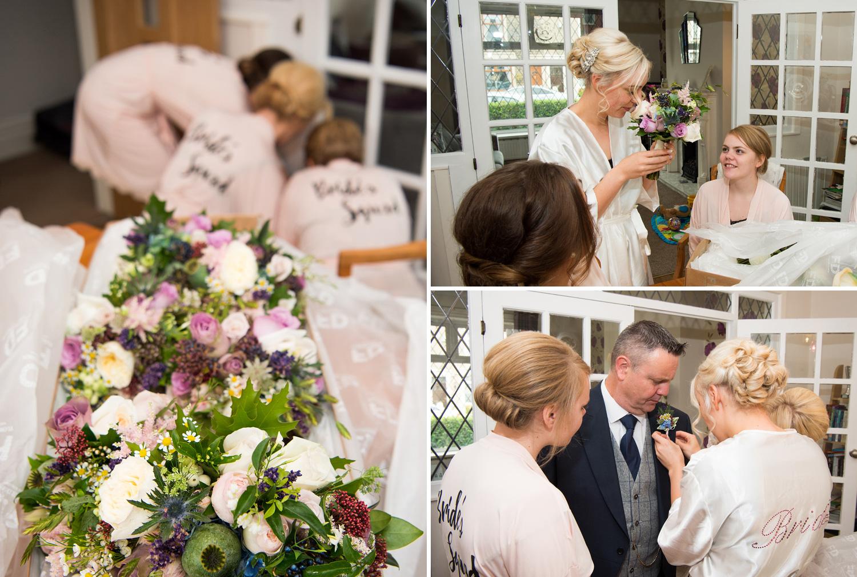 The wedding flowers