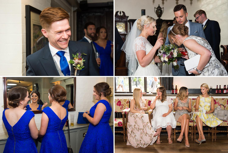 Candid wedding photographs at Samlesbury Hall