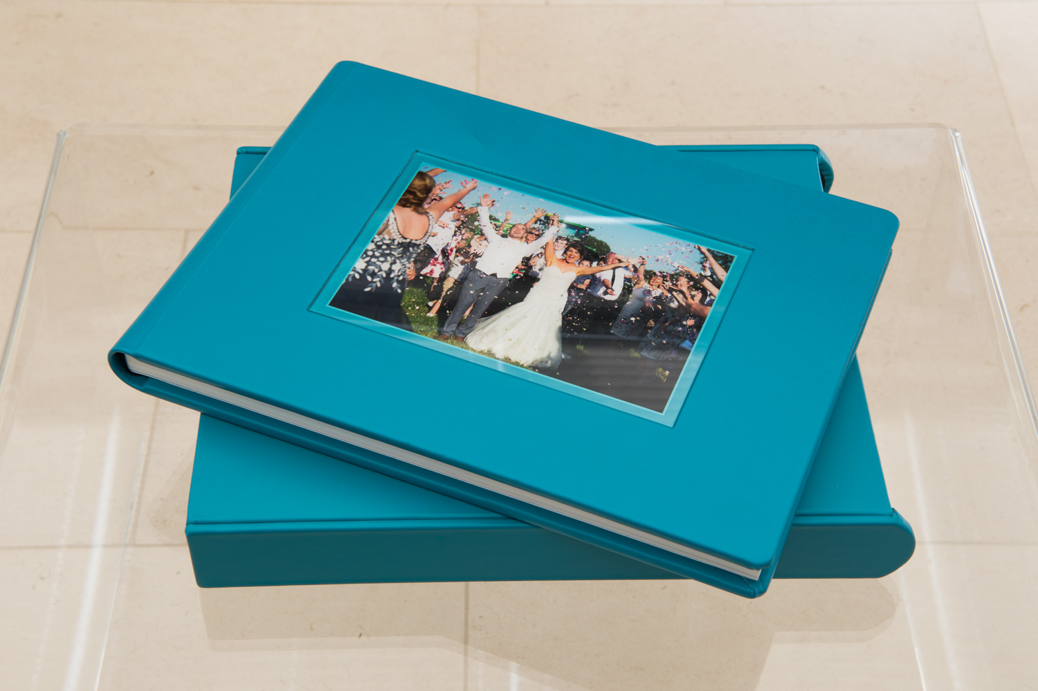 Nappa Leather Wedding Story Book and Sleeve