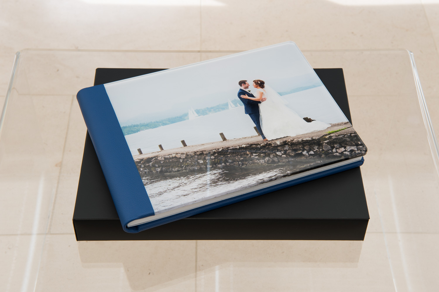 Wedding story book with acrylic front cover