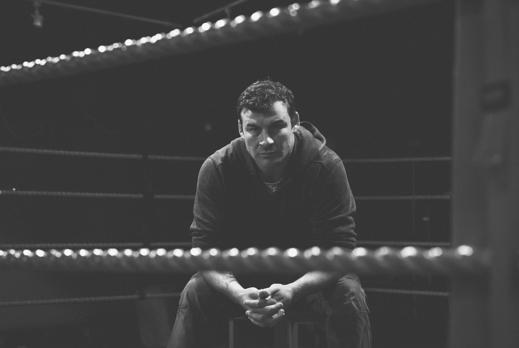 Calzaghe in the ring Newbridge