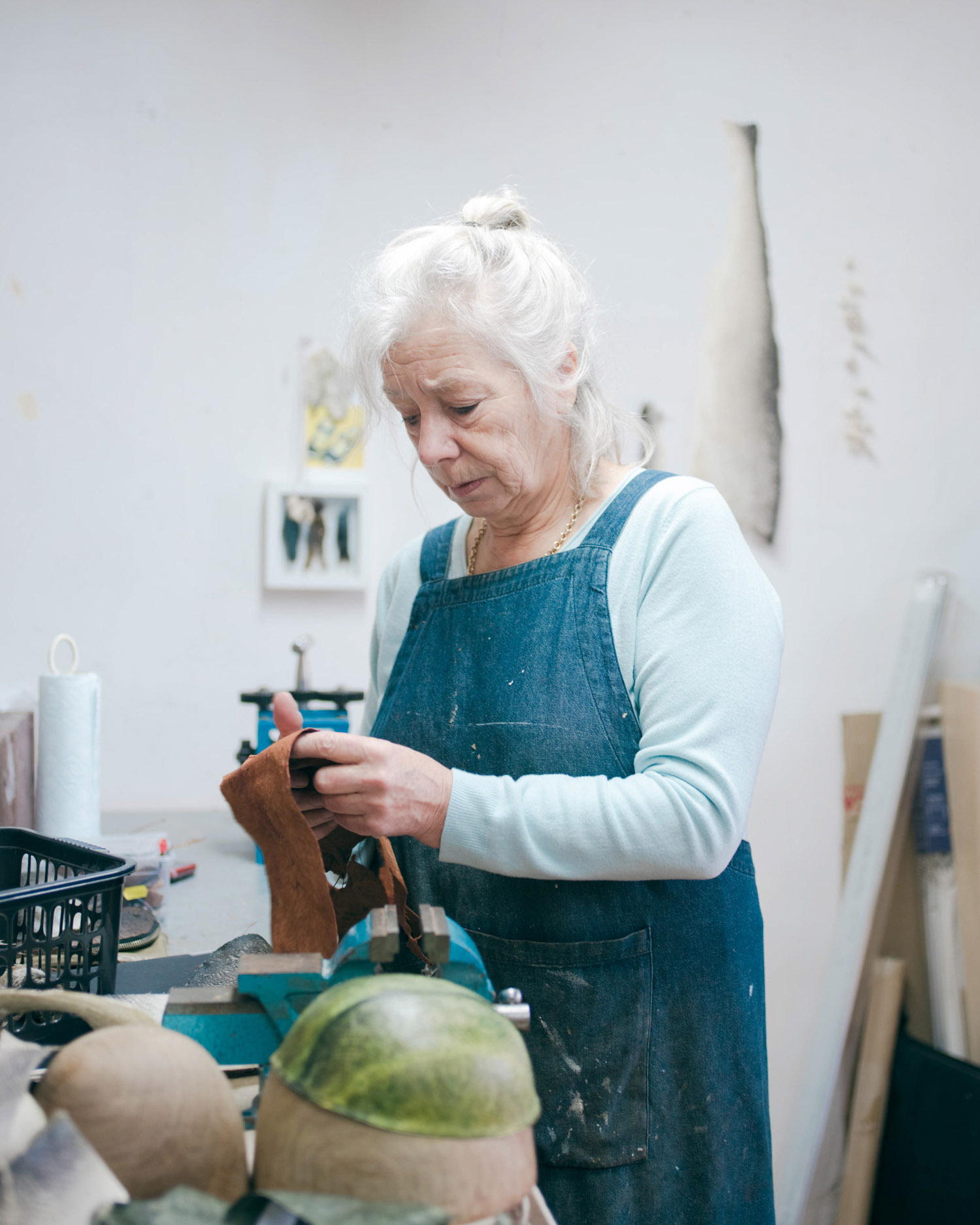 Kari working in her Devon based studio.