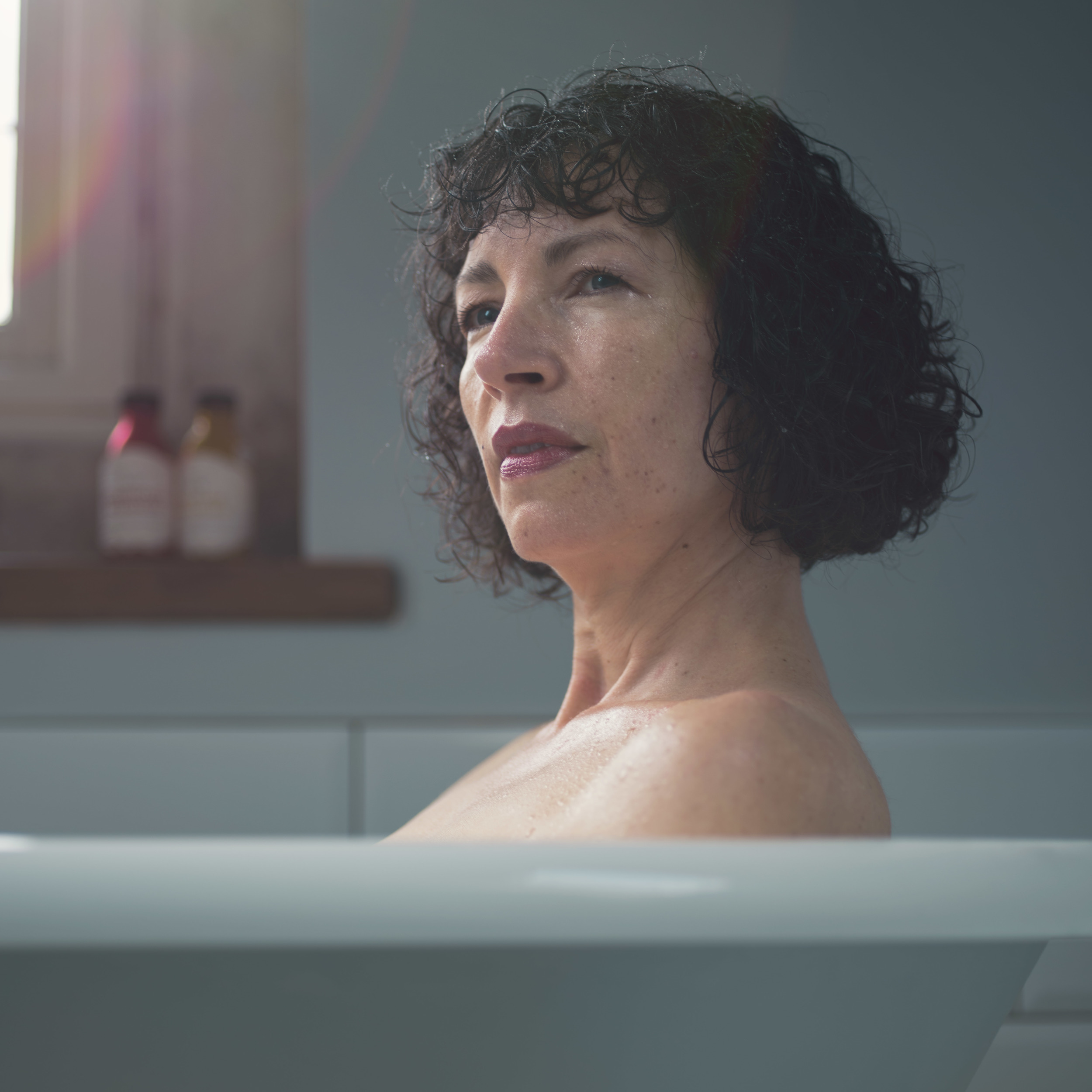 Lady in the bath portrait