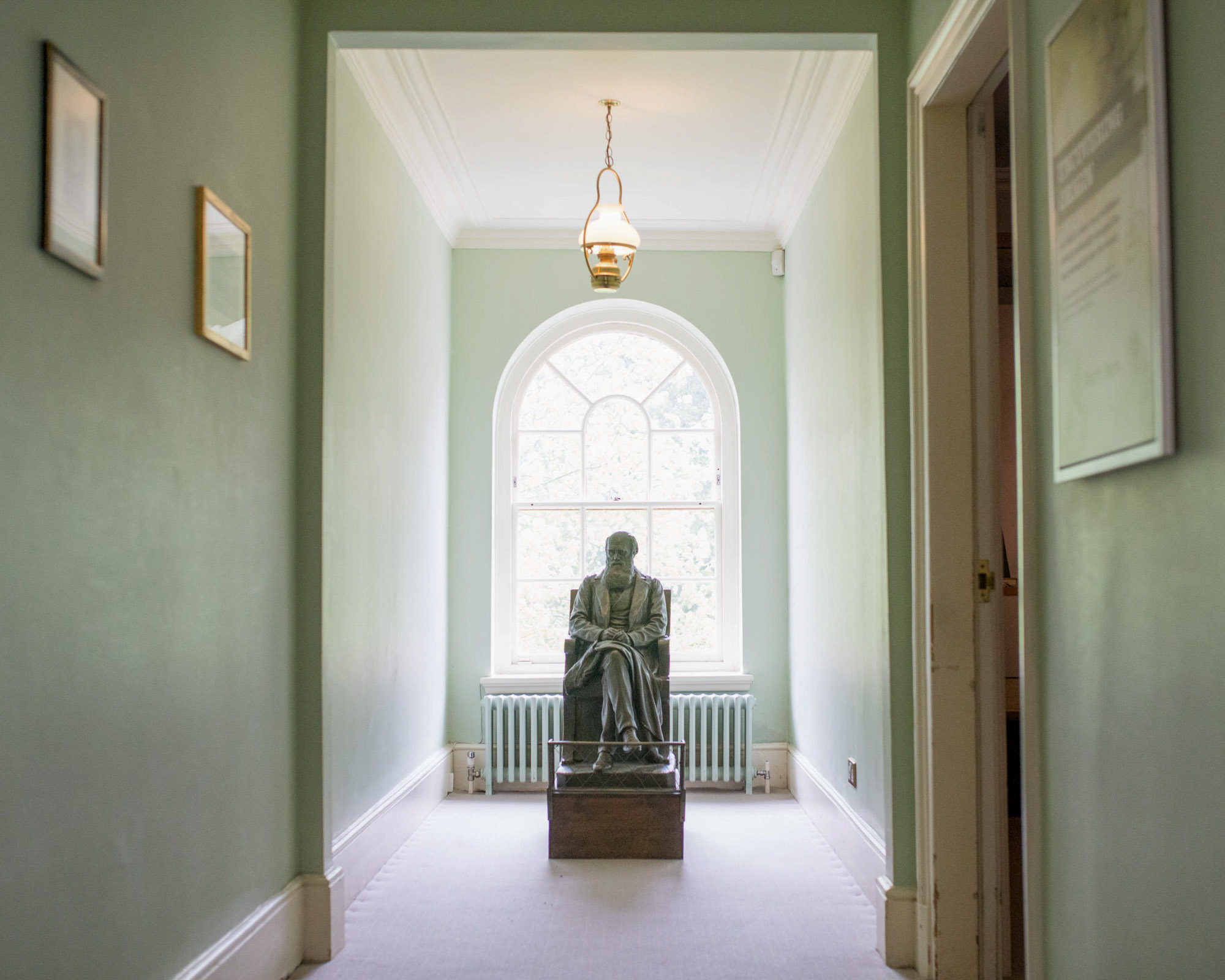 Statue of Charles Darwin at Down House