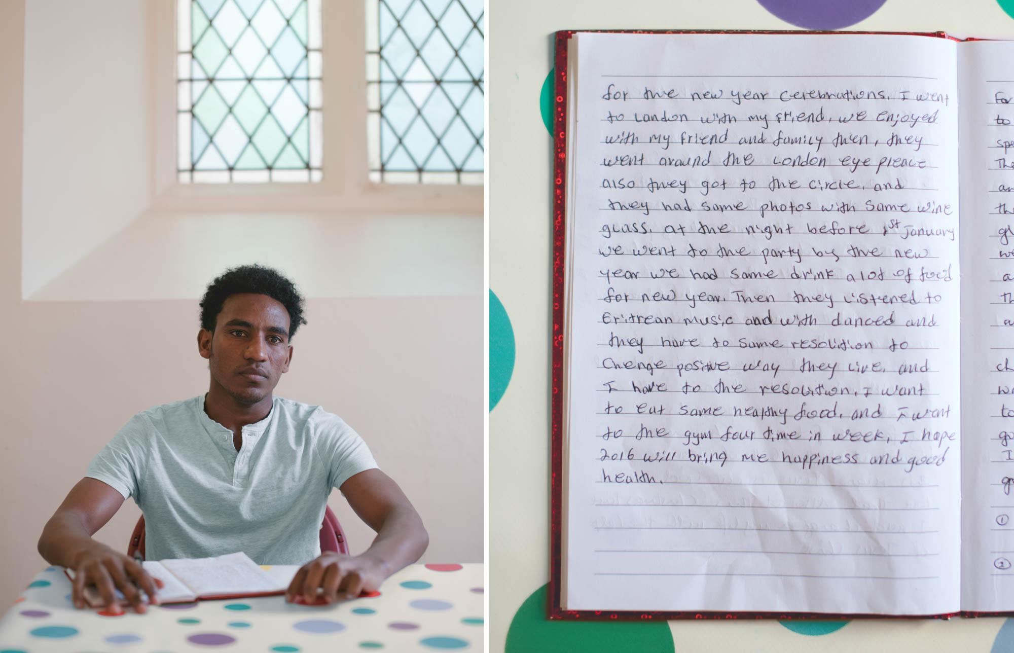 Hand Writing portrait