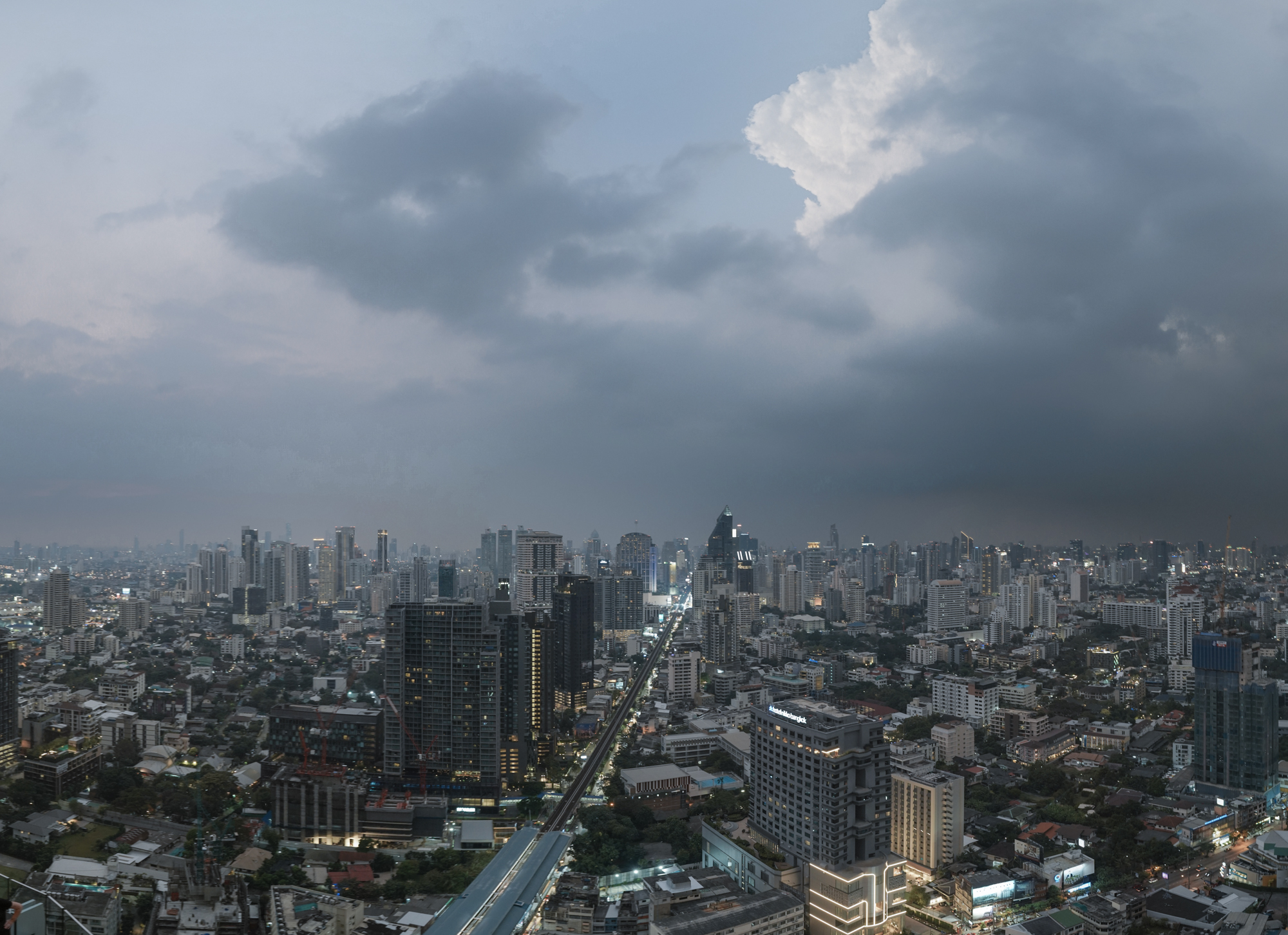 Bangkok Storm Skyline