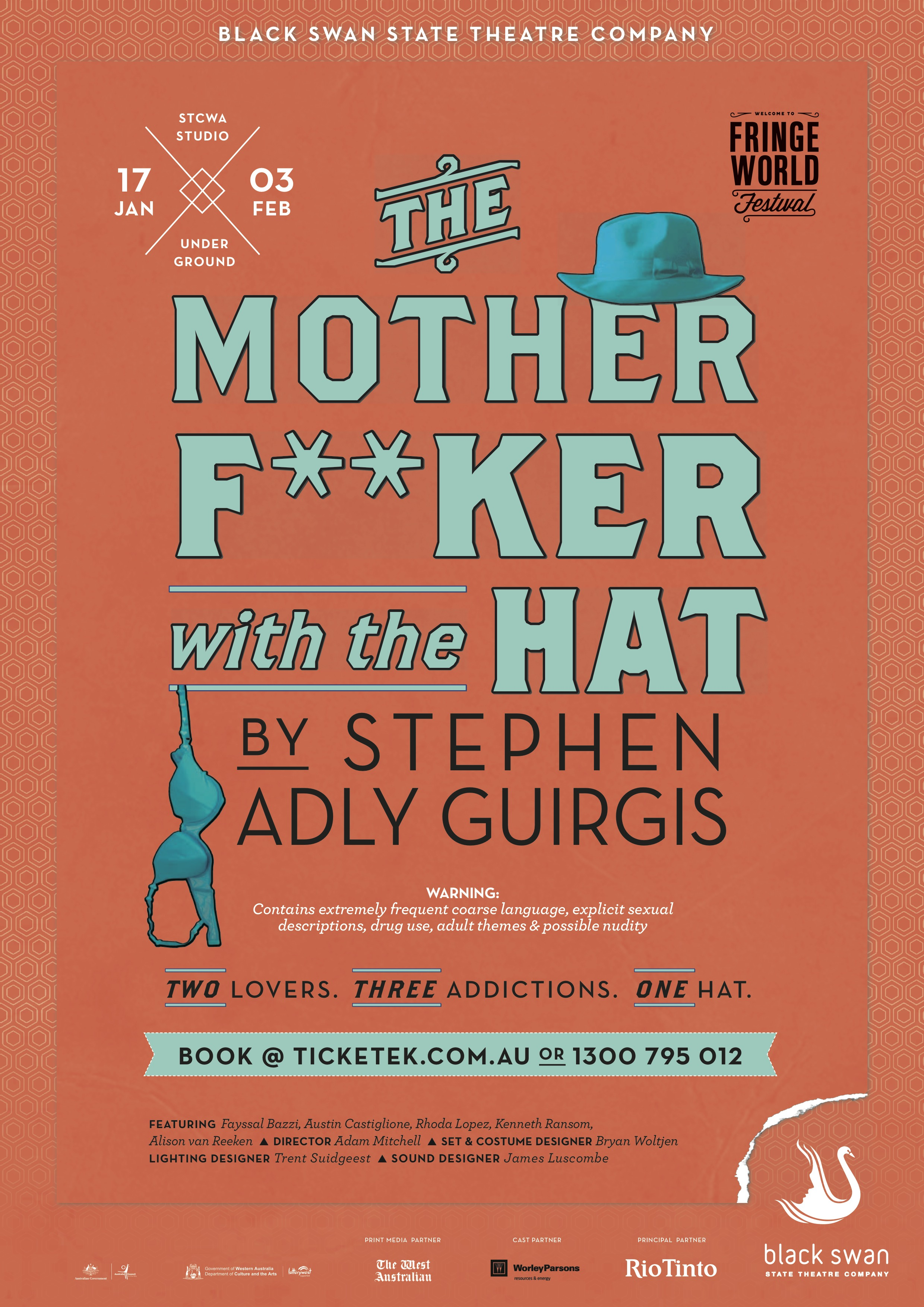 The Motherfucker with the Hat, Stephen Adly Guirgis Artwork