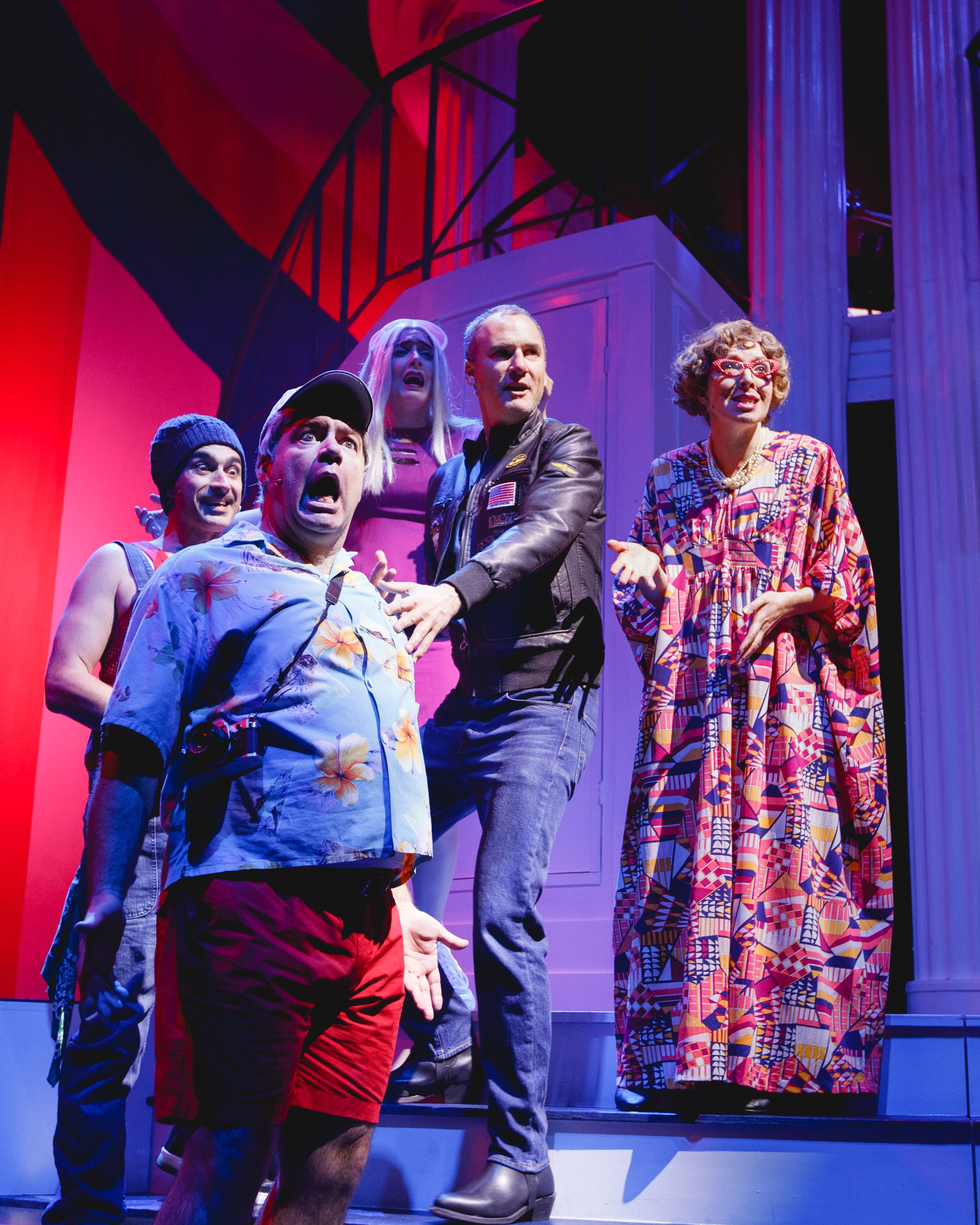 04 Luke Hewitt, Brendan Hanson, Megan Kozak, Matt Dyktynski and Clare Moore. Clinton The Musical. image by Daniel James G~1.jpg