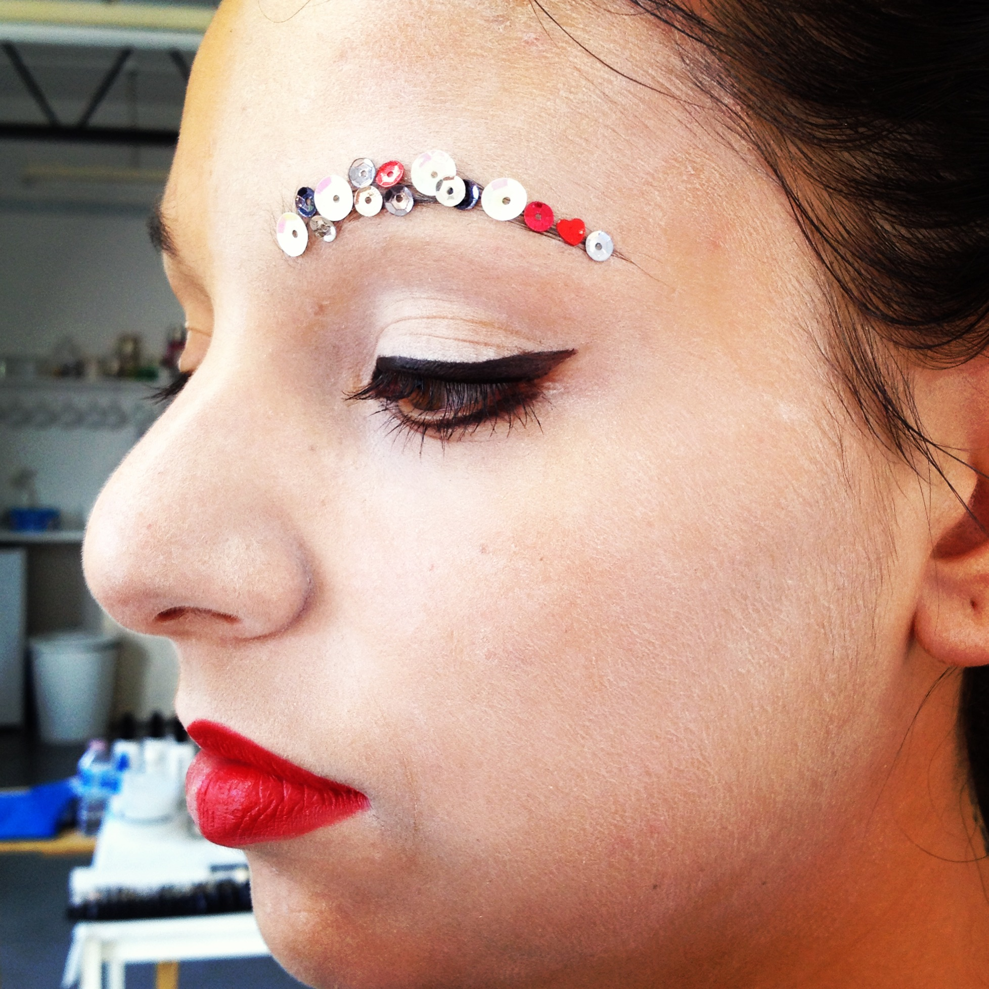 Creative catwalk look from day 5.