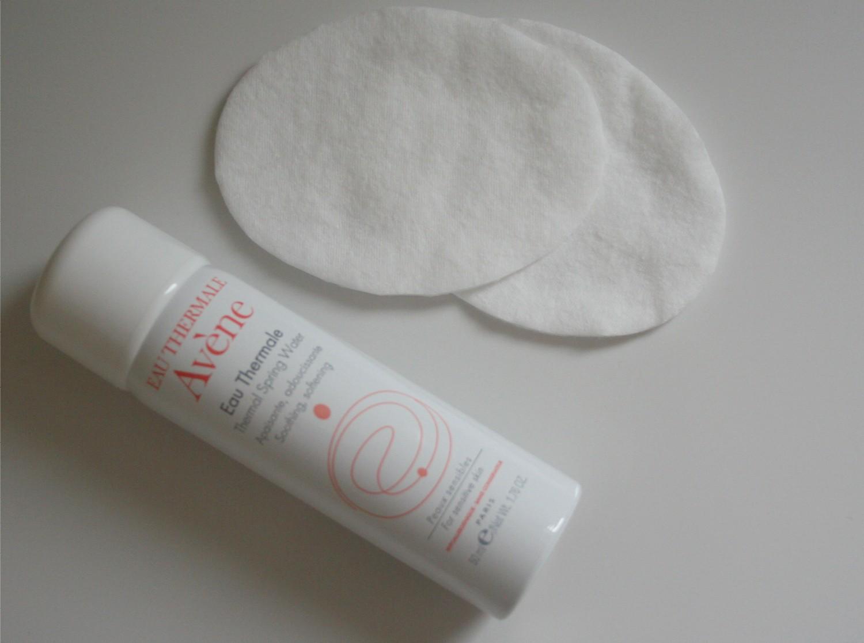 Water spray & cotton pads