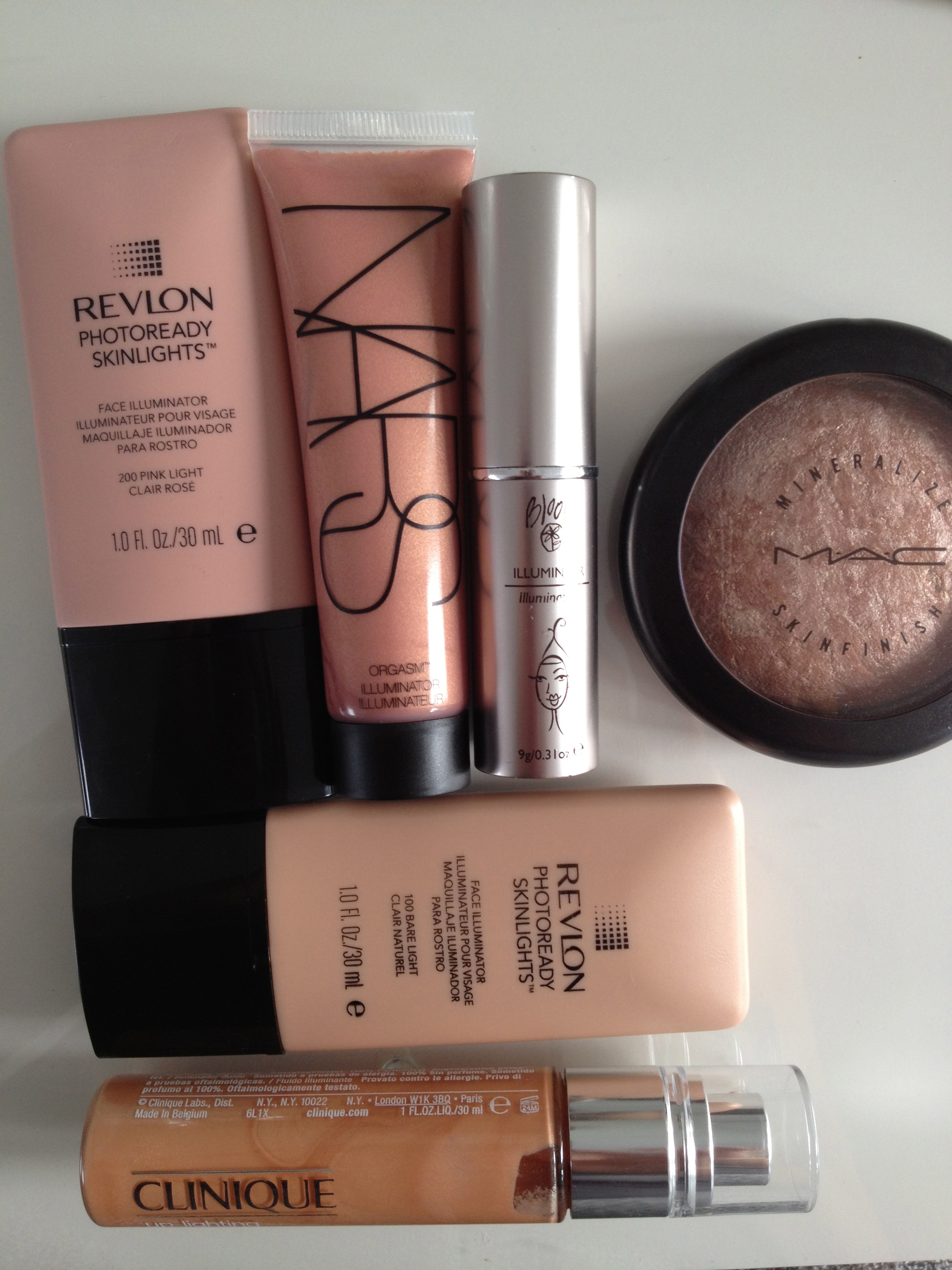 My stash of illuminators and highlighting products