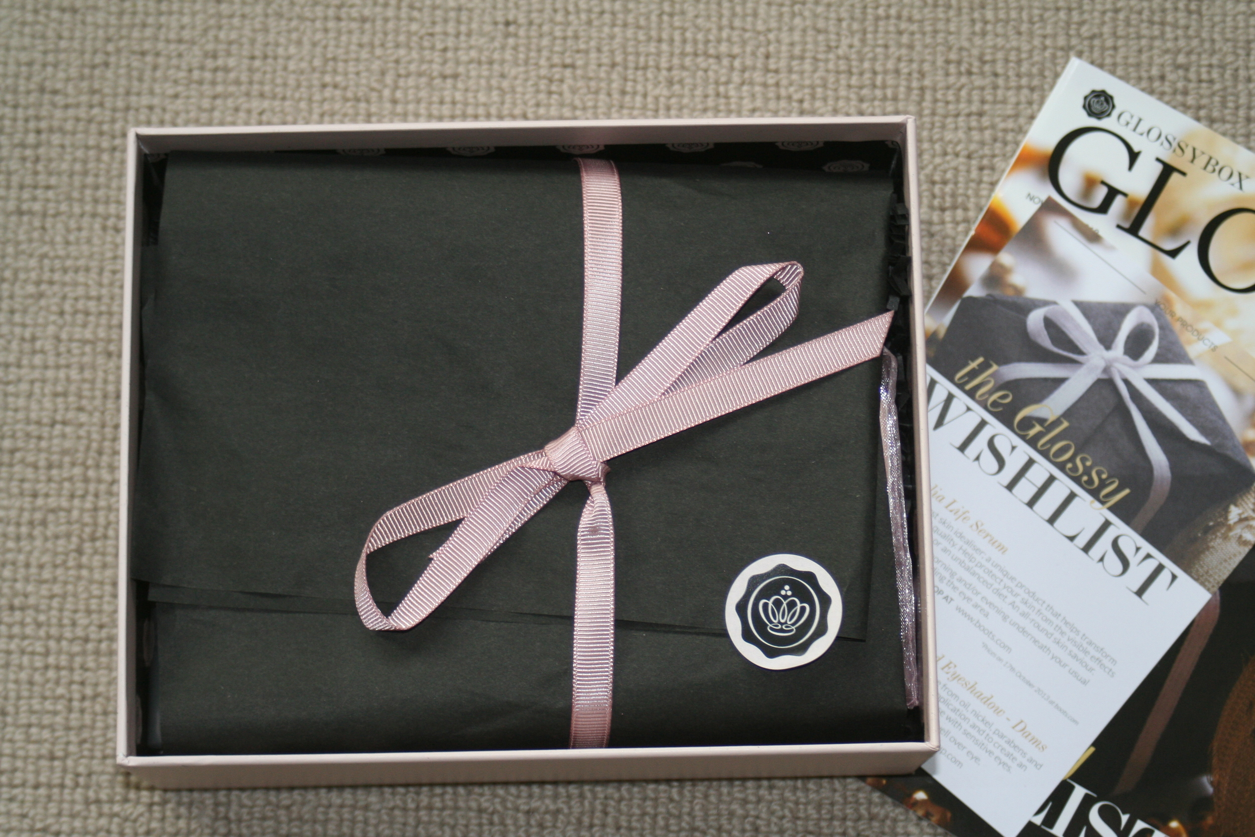 Glossybox ... always amazing presentation