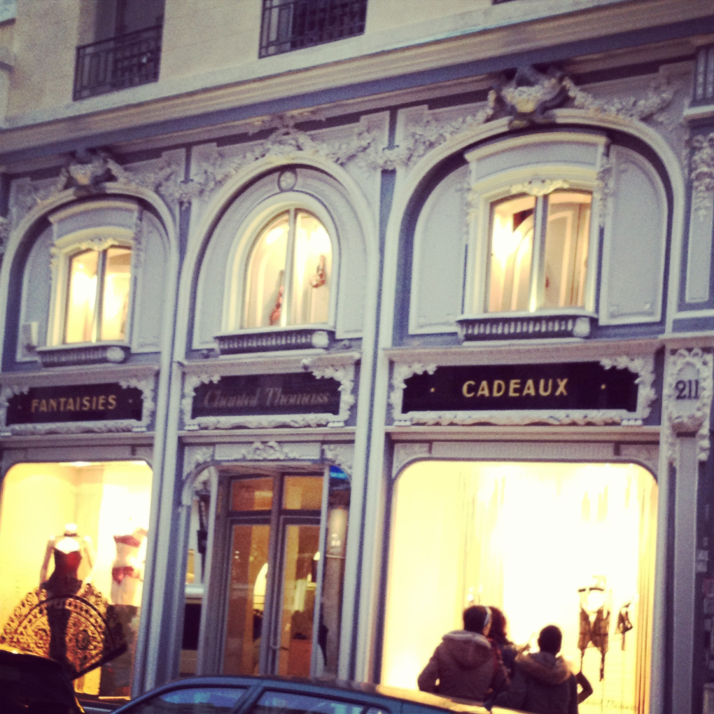 Incredible lingerie store on Rue Saint Honore ....