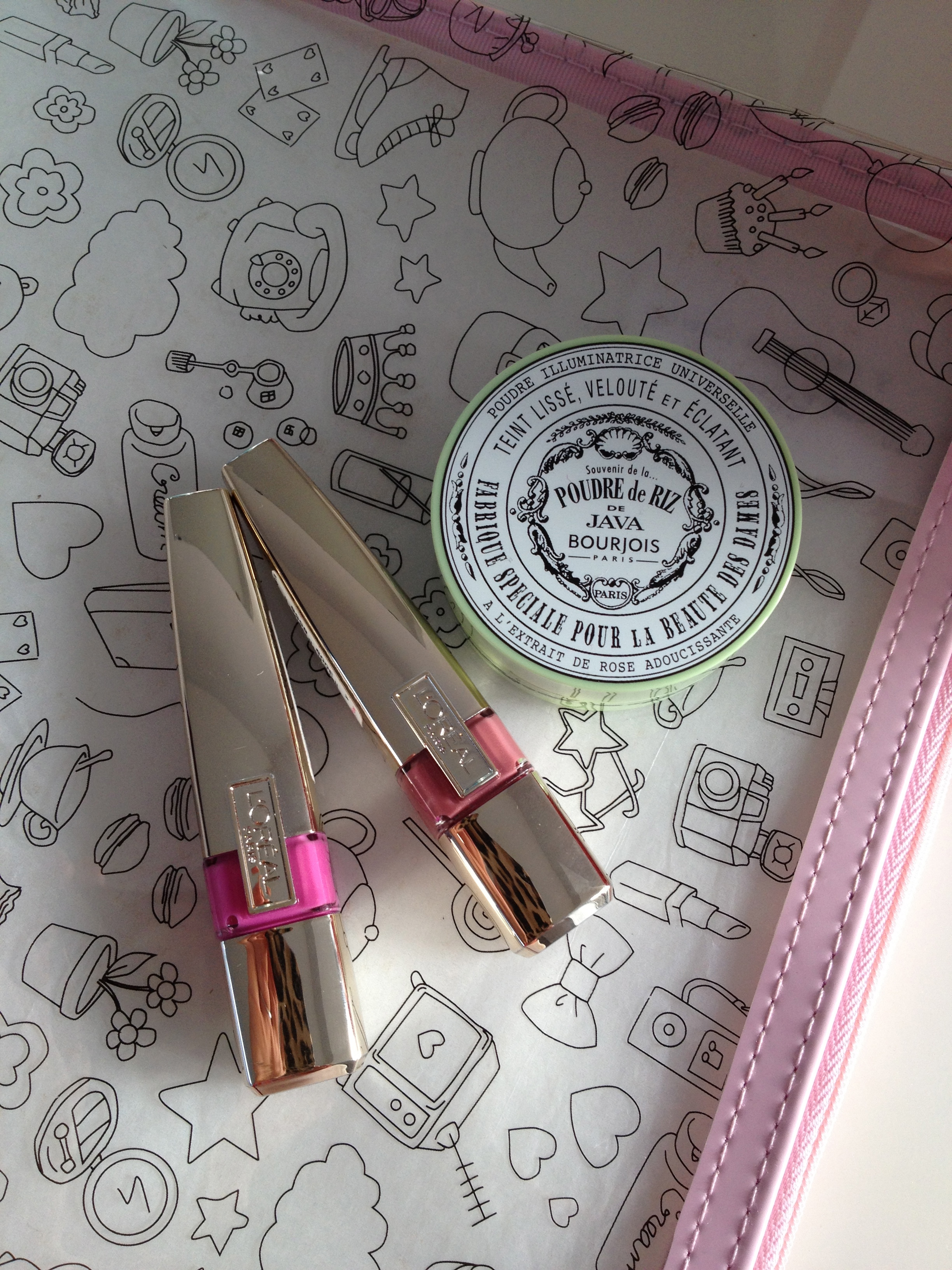 Wash bag from Galeries Lafayette featuring illustrations by the Cherry Blossom Girl, one of my favourite bloggers