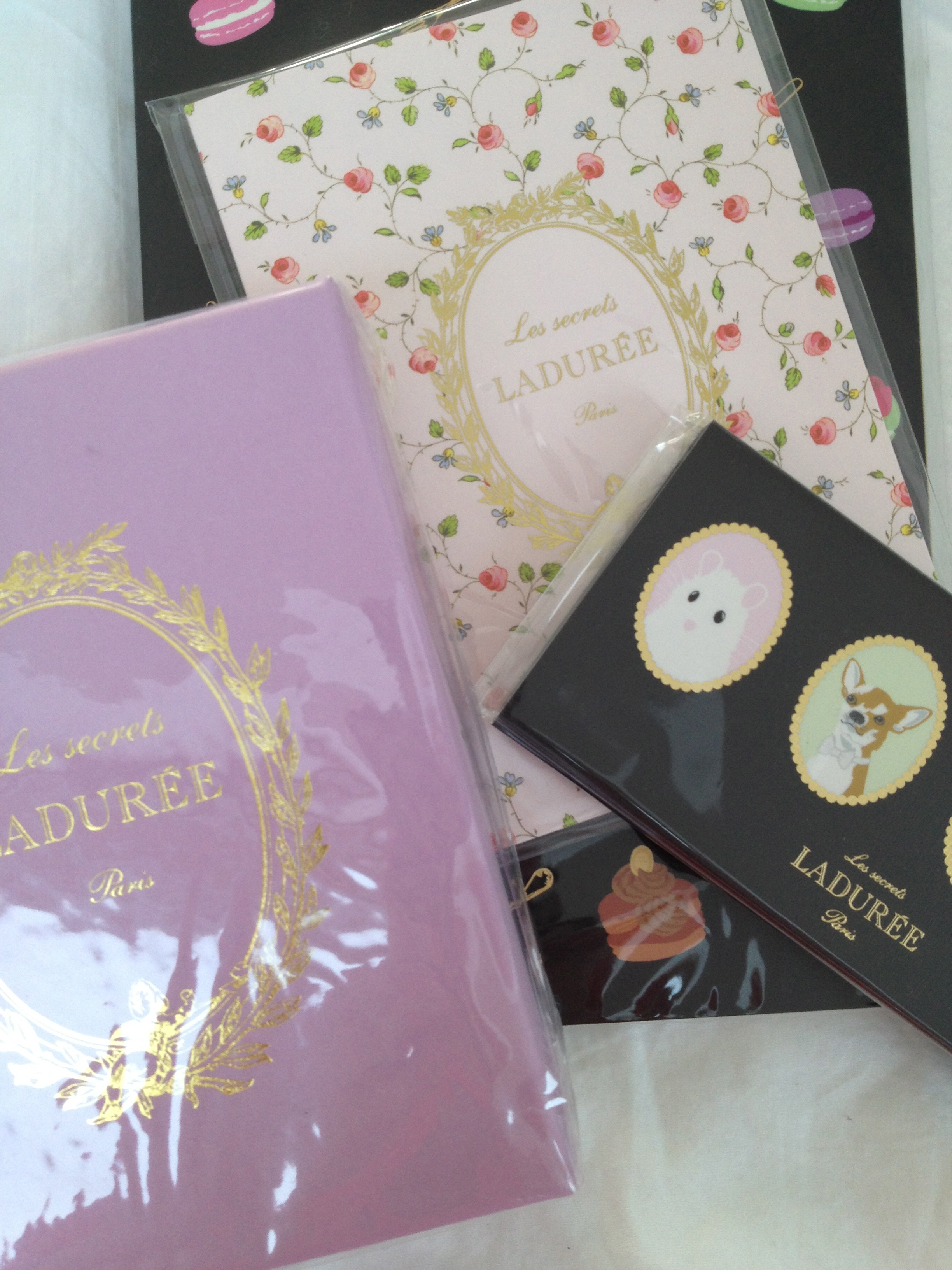 Lauduree now make stationery and keyrings. Who knew?