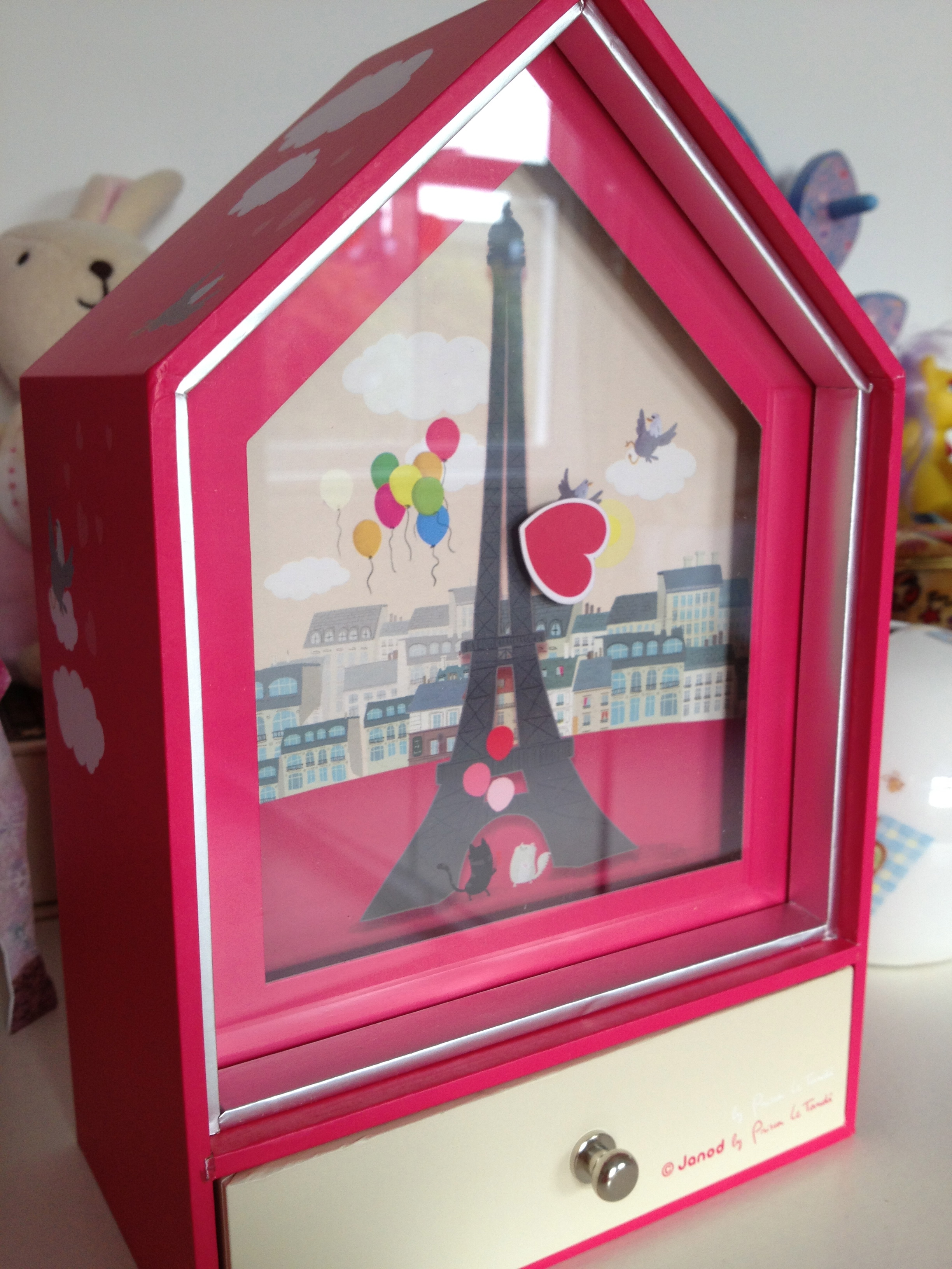 Eiffel Tower music box for my little girls