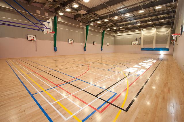 Rubber Plank Parquet Wood Sports Flooring