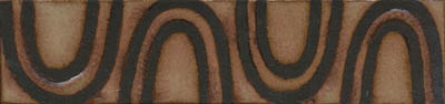 MR- 195 Ripple Border 2x8 - black line  Shown in Limestone