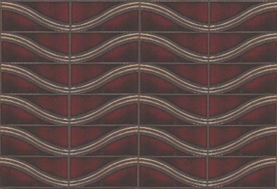 Wave 4x8 in repeat  Dafi Color Palette - Sangria + Limestone