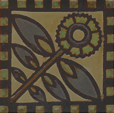Thistle Deco  Belem Color Palette - black line  Available in 6x6 and 8x8 with or without notched border