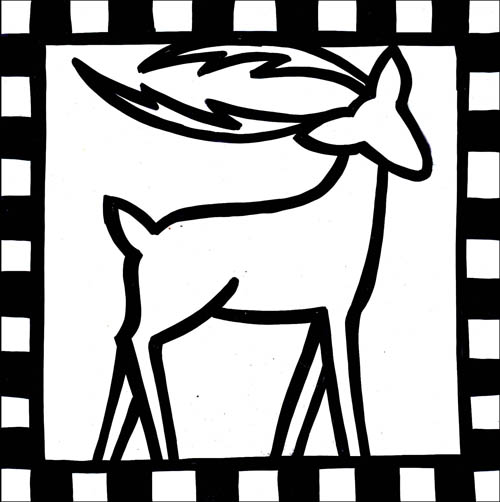 DEER DECO  -  in 6x6 + 8x8 - comes with or without notches