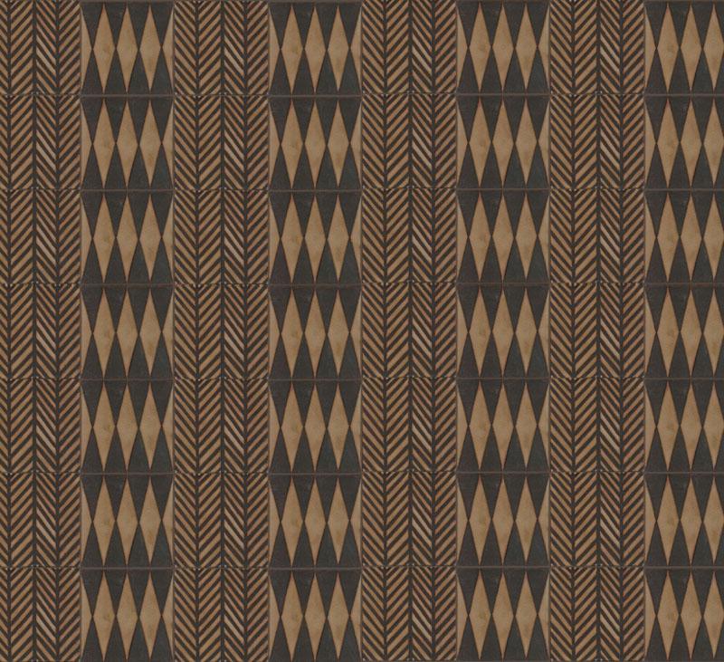 Mix + Match - Double Herringbone 8x8 + Diamond Quadrata from the GRAFIK collection - both in Limestone with black line