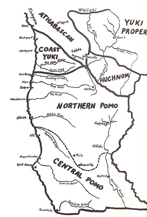 Map of Pomo region
