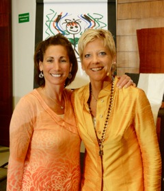 Janet Stokes with Dr. Sue Morter (right)