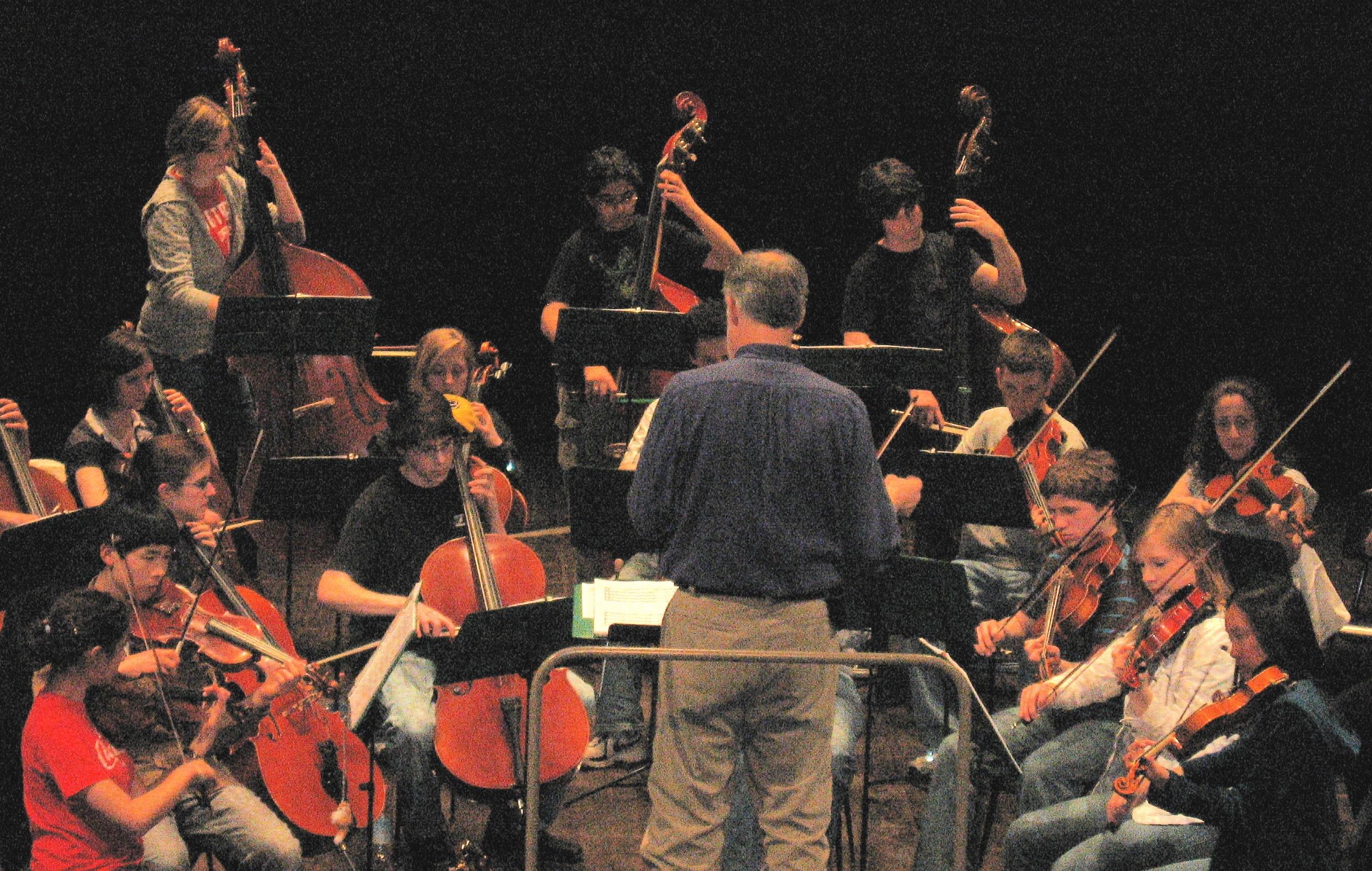 Stevenson Tour Orchestra rehearses in Teatro Comunale, Casalmaggiore Italy 2008