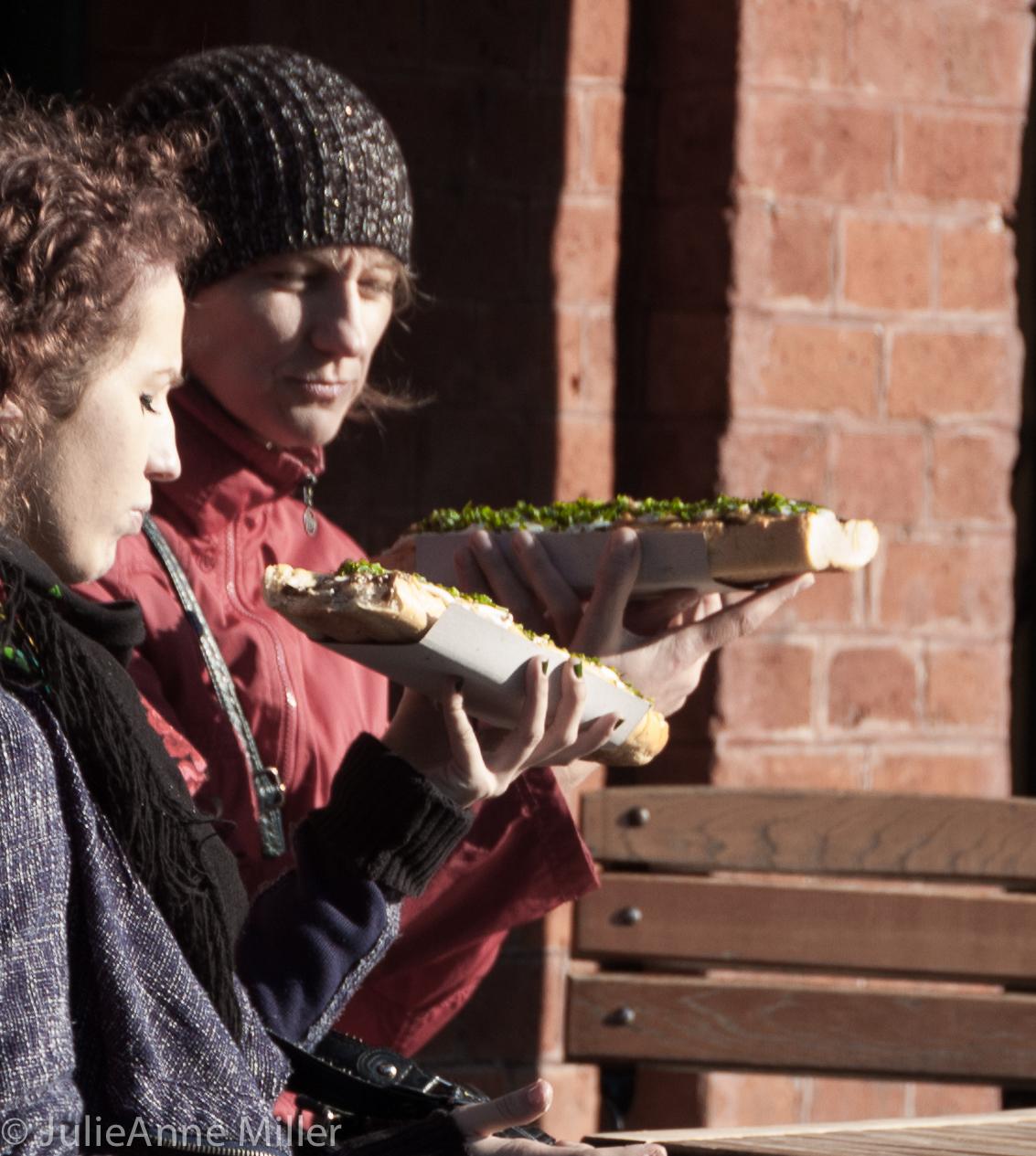 Eating zapiekanki in Plac Nowy
