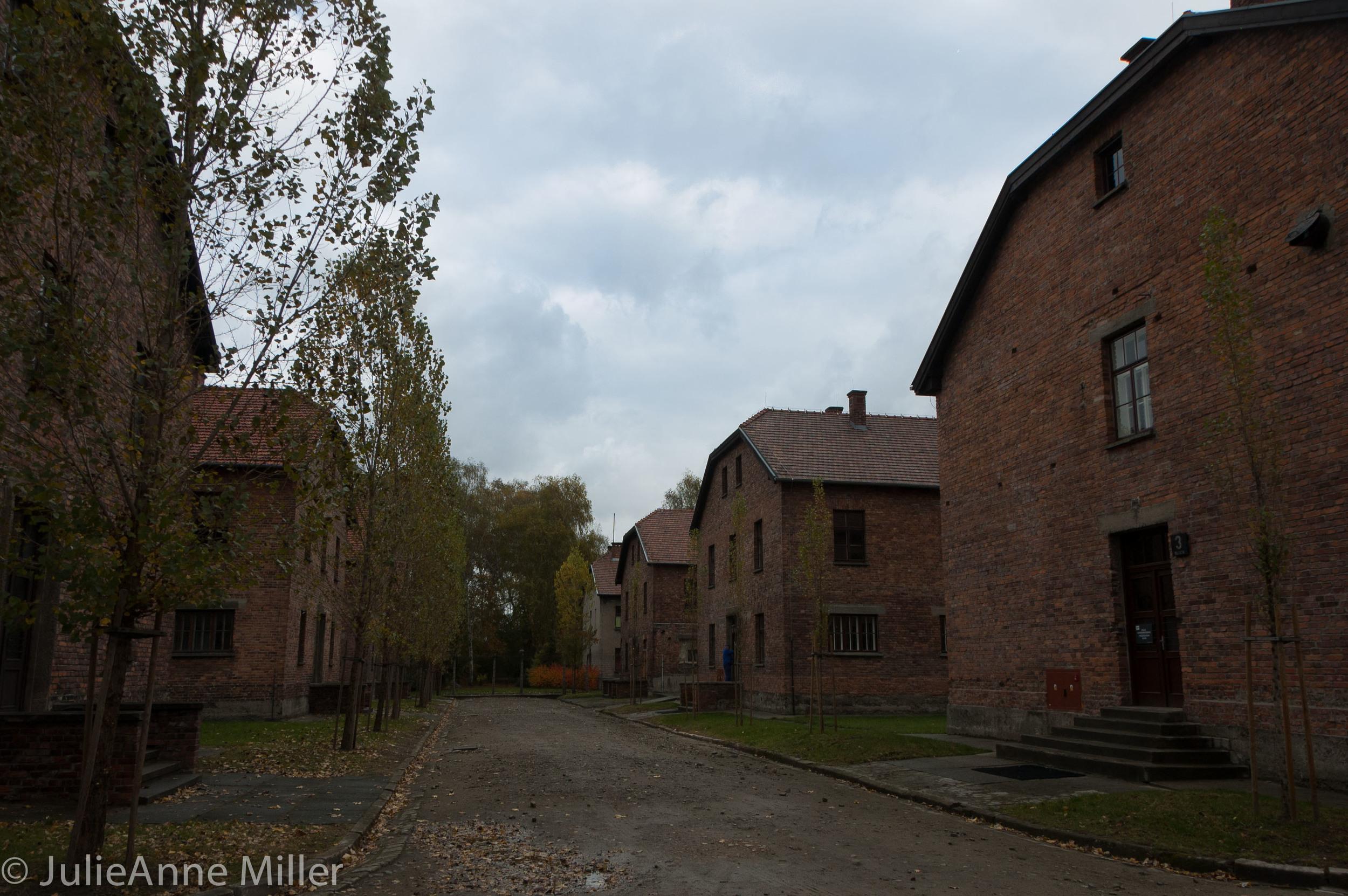 Auschwitz prisoner quarters