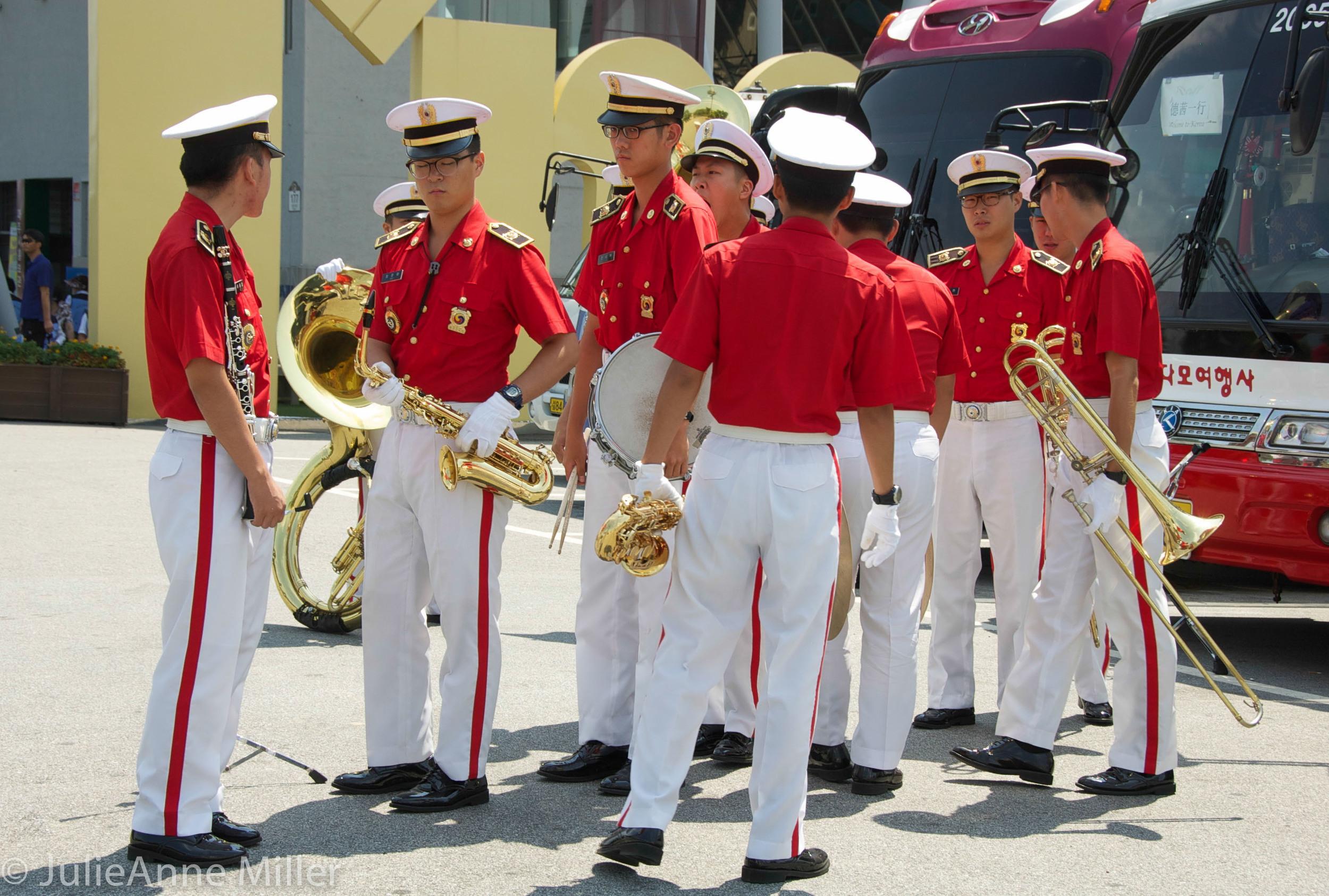 military band Imjingak, DMZ, Korea