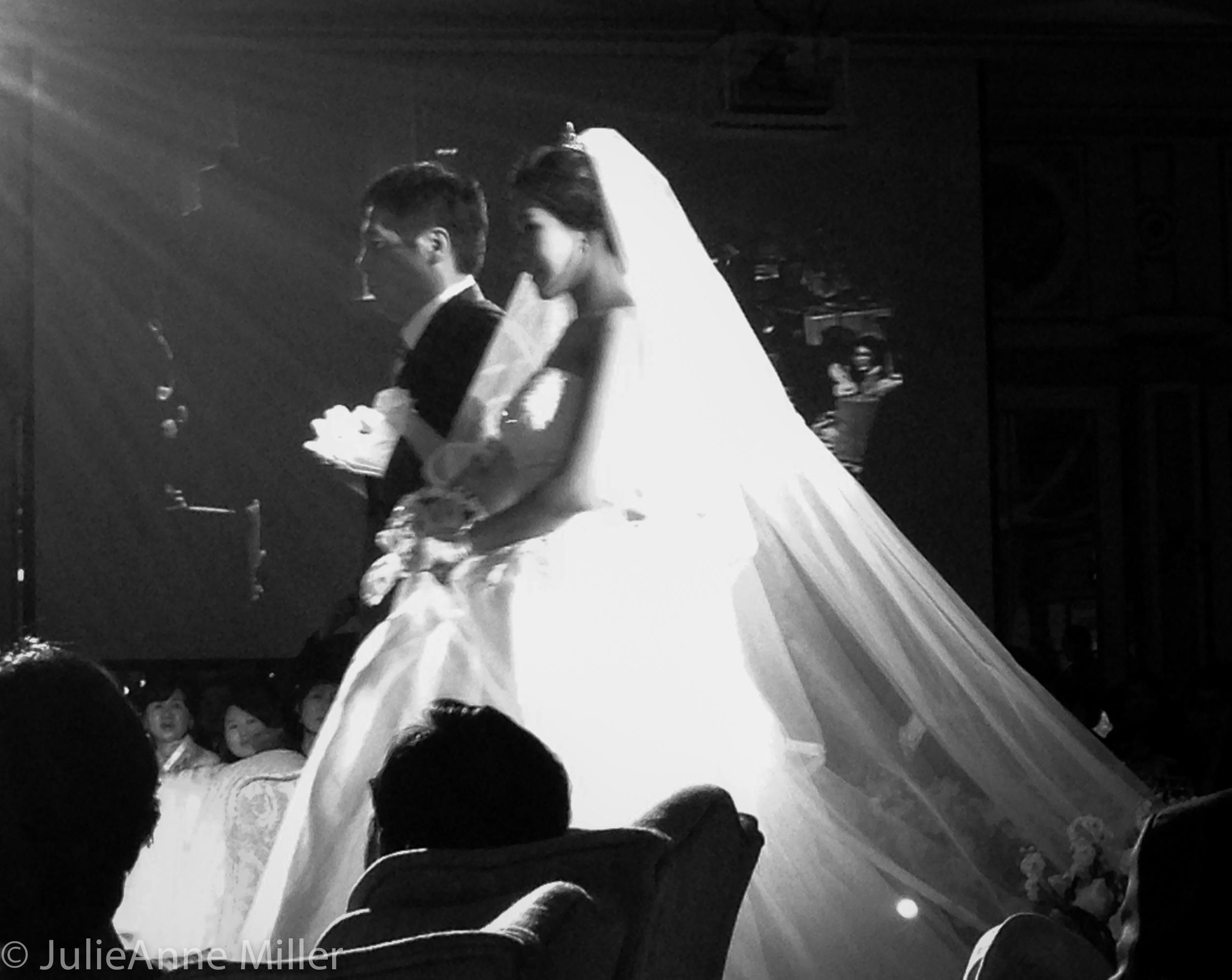 Korean bride enters