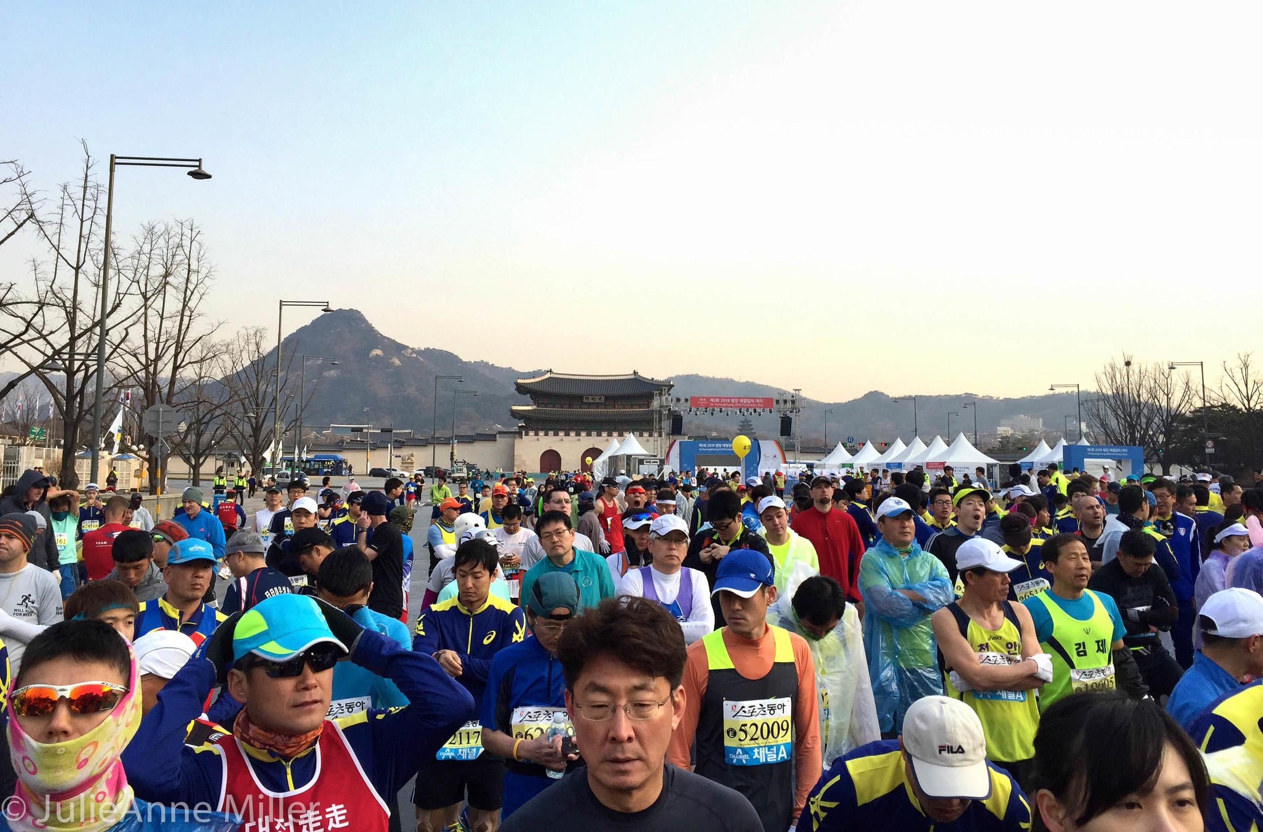 Race start at gwanghwamun square
