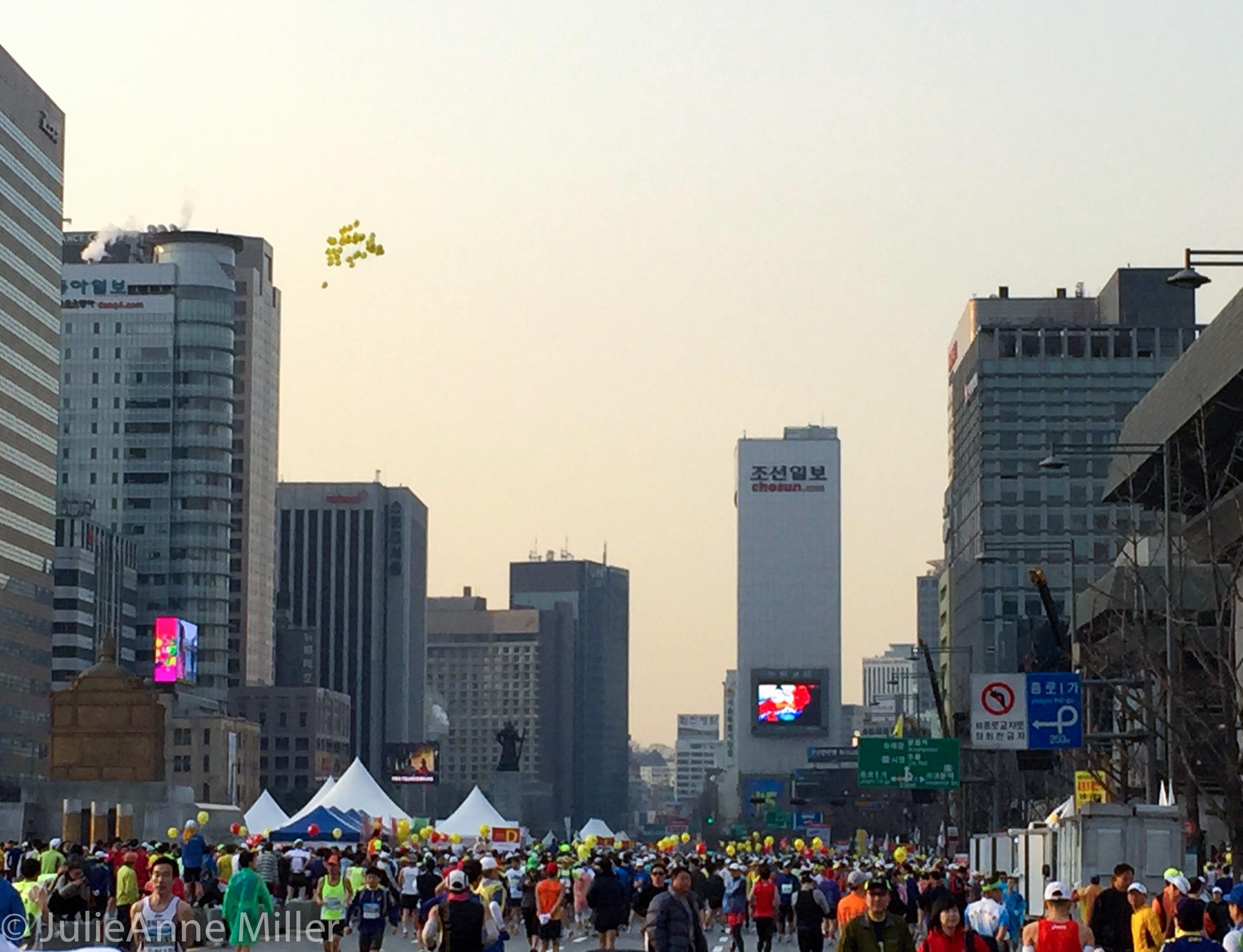 Gwanghwamun square start line