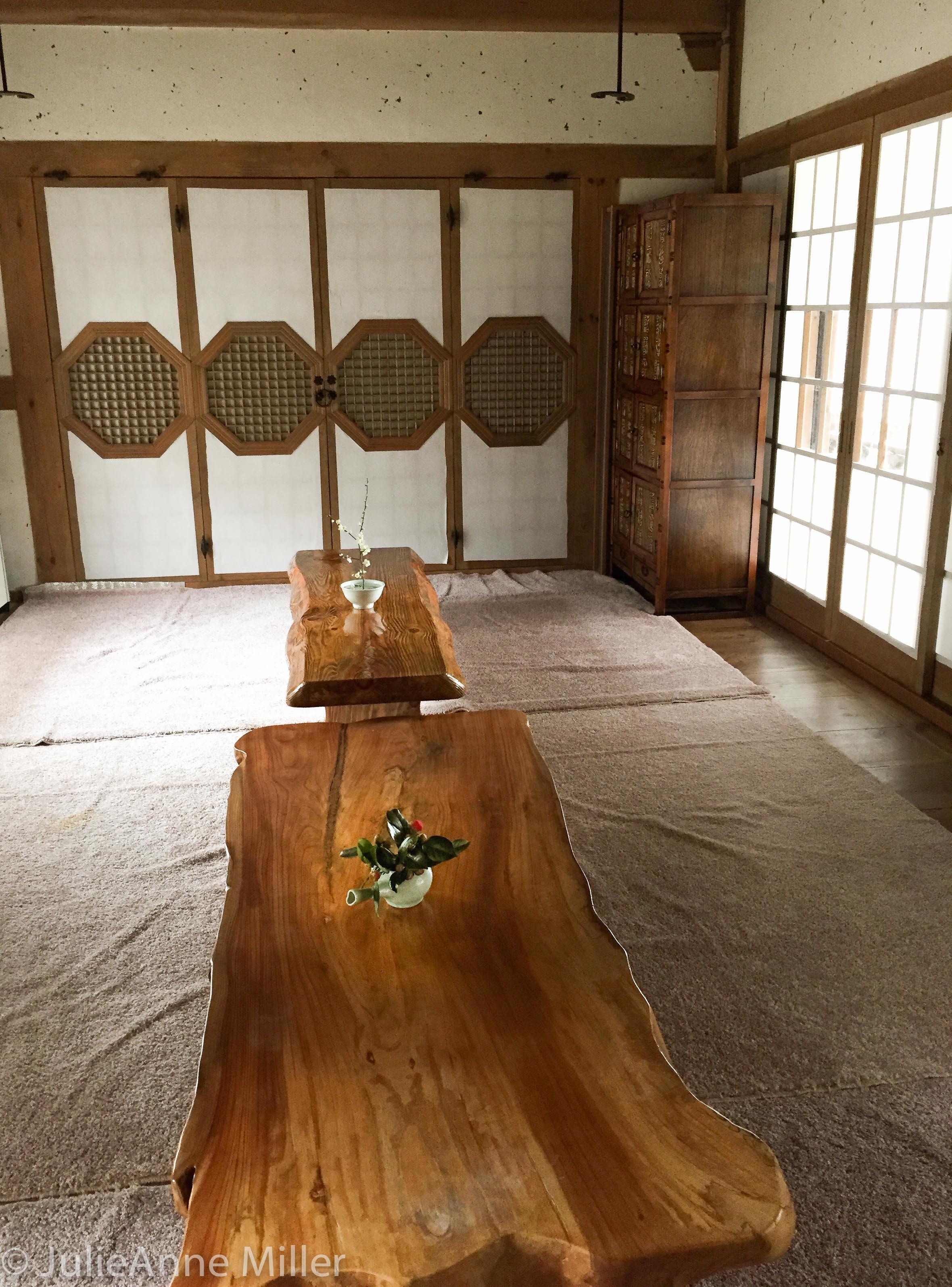 inside tea house, Suncheon, South Korea