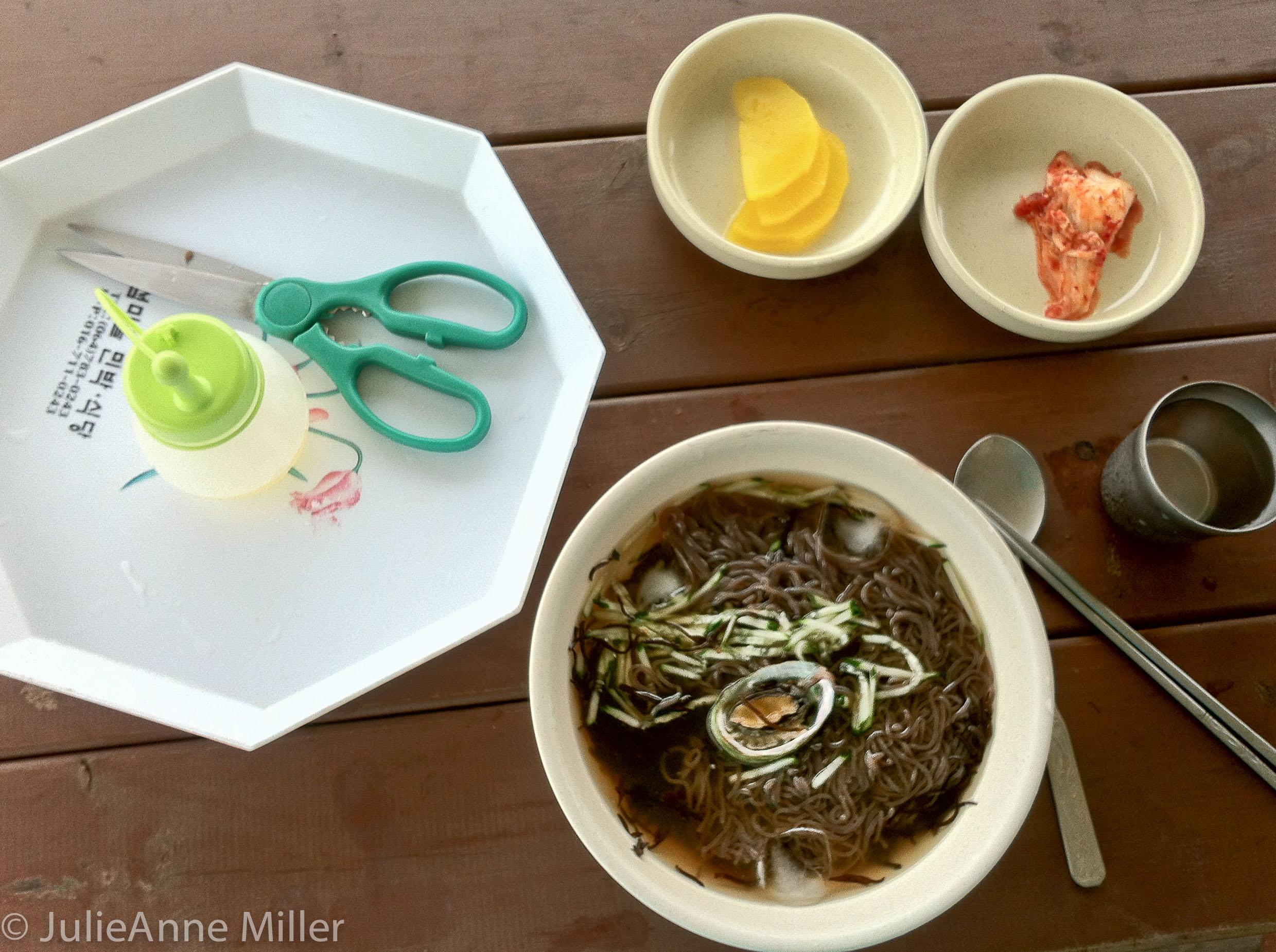 abalone naengmyon