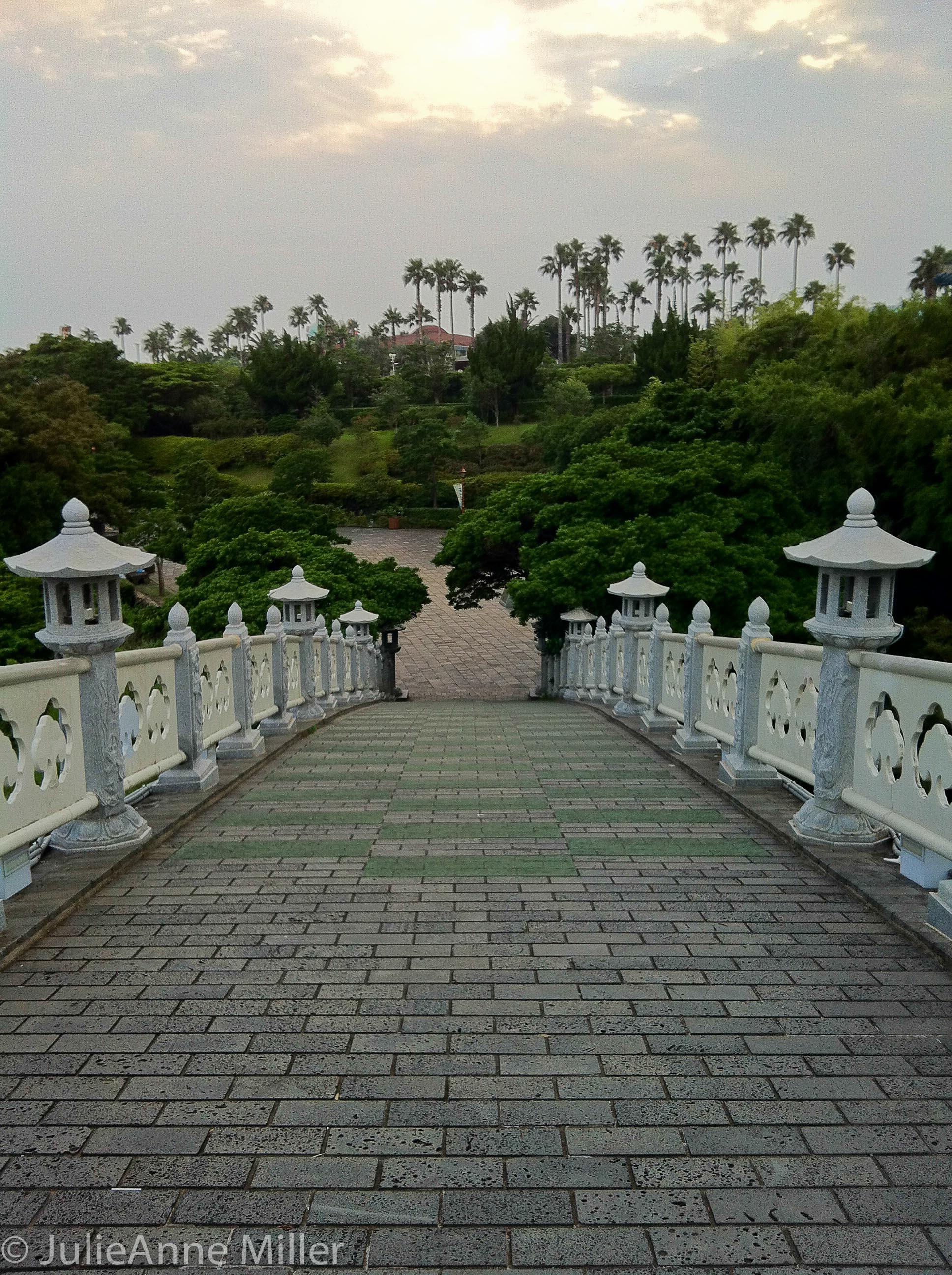 walking across Seonim Bridge