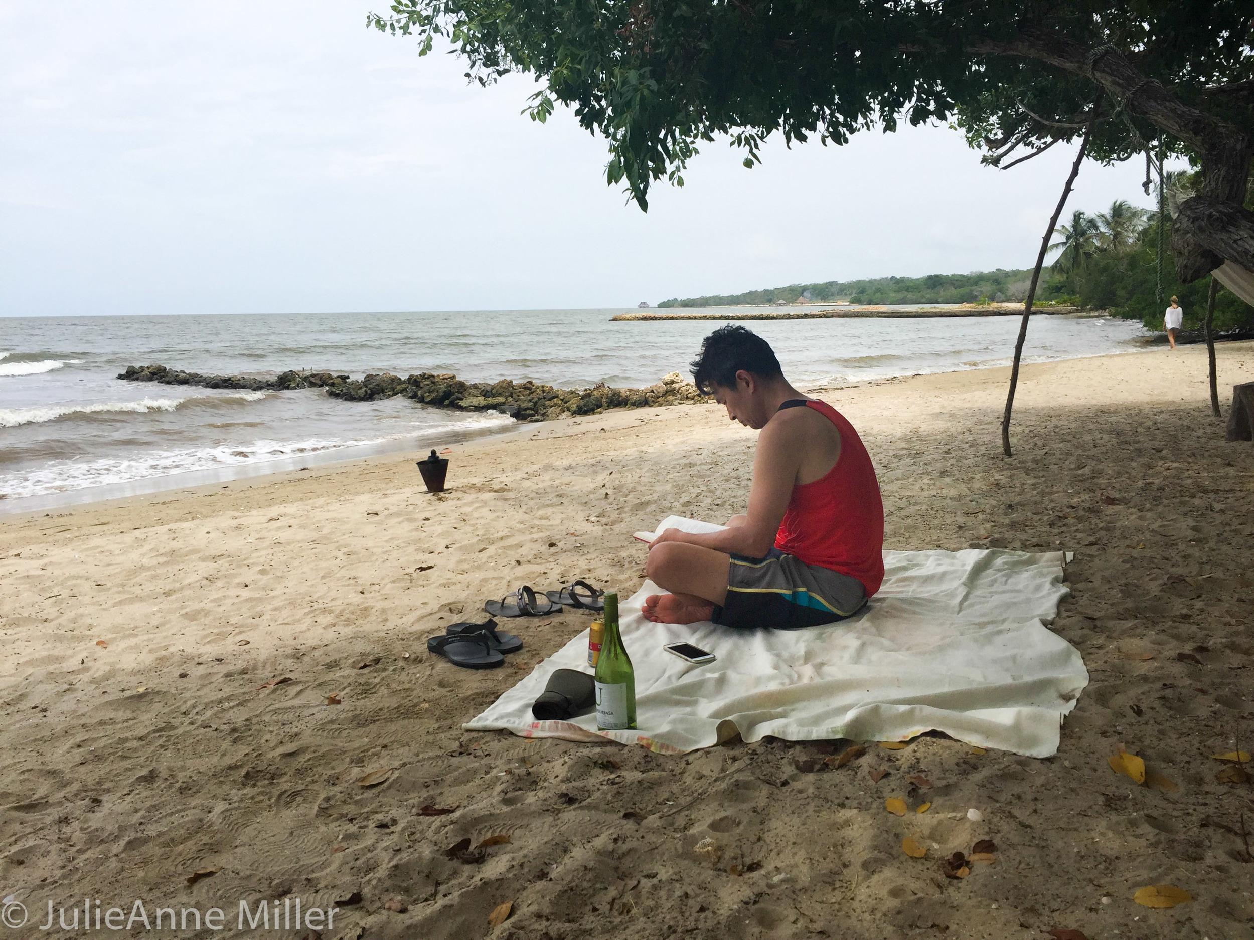 caffrey on beach at hotel 2.jpg