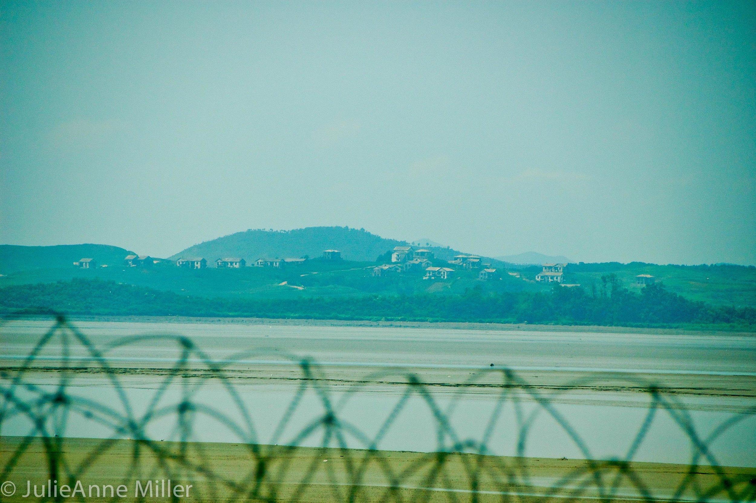 view North Korea, DMZ