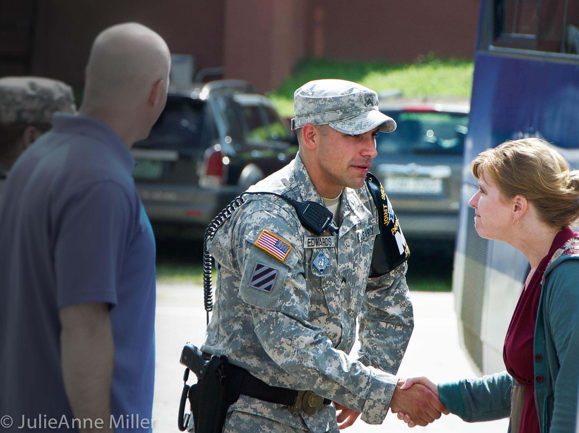 US Soldier at Camp Bonifas