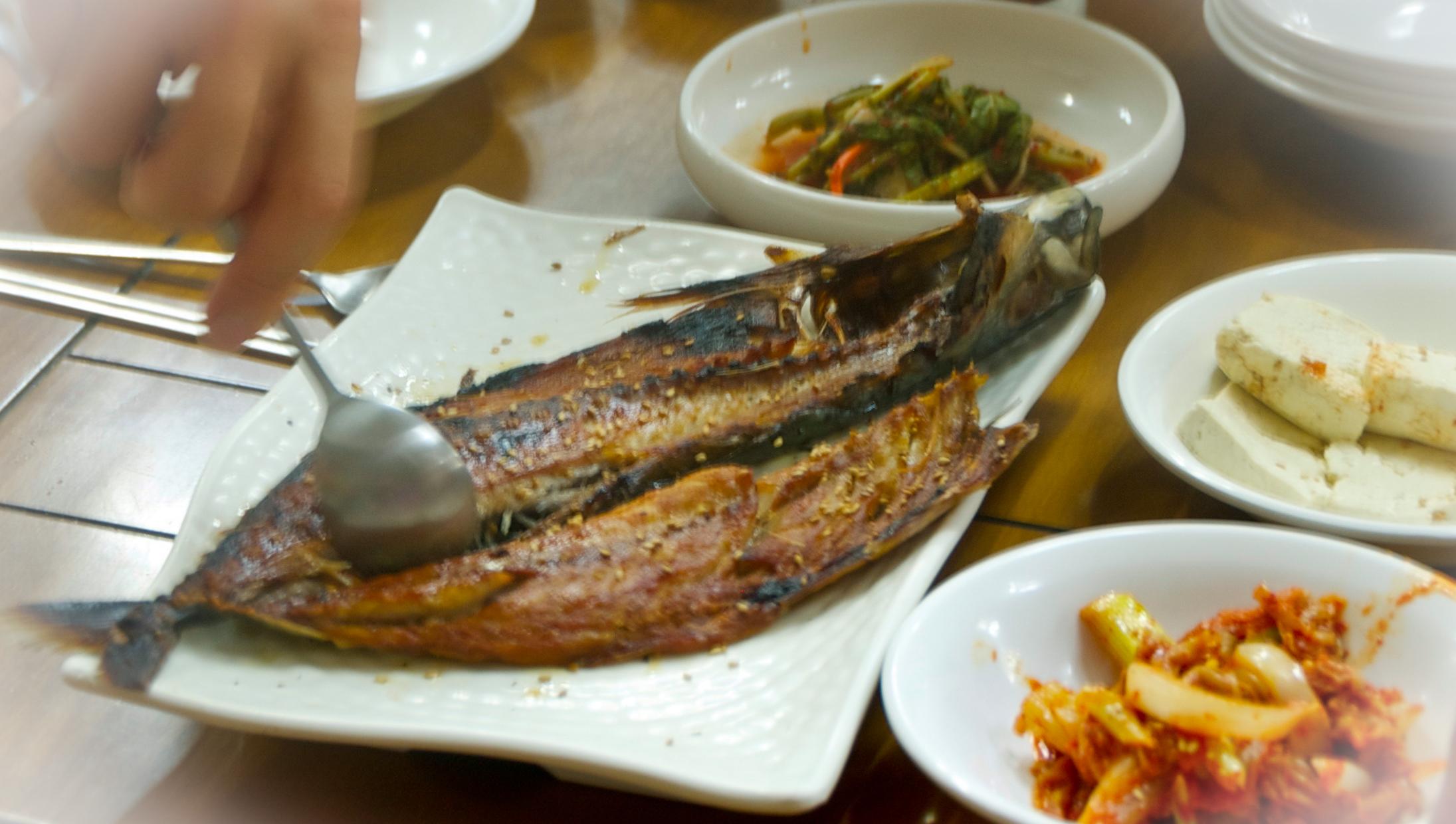 grilled mackerel, South korea